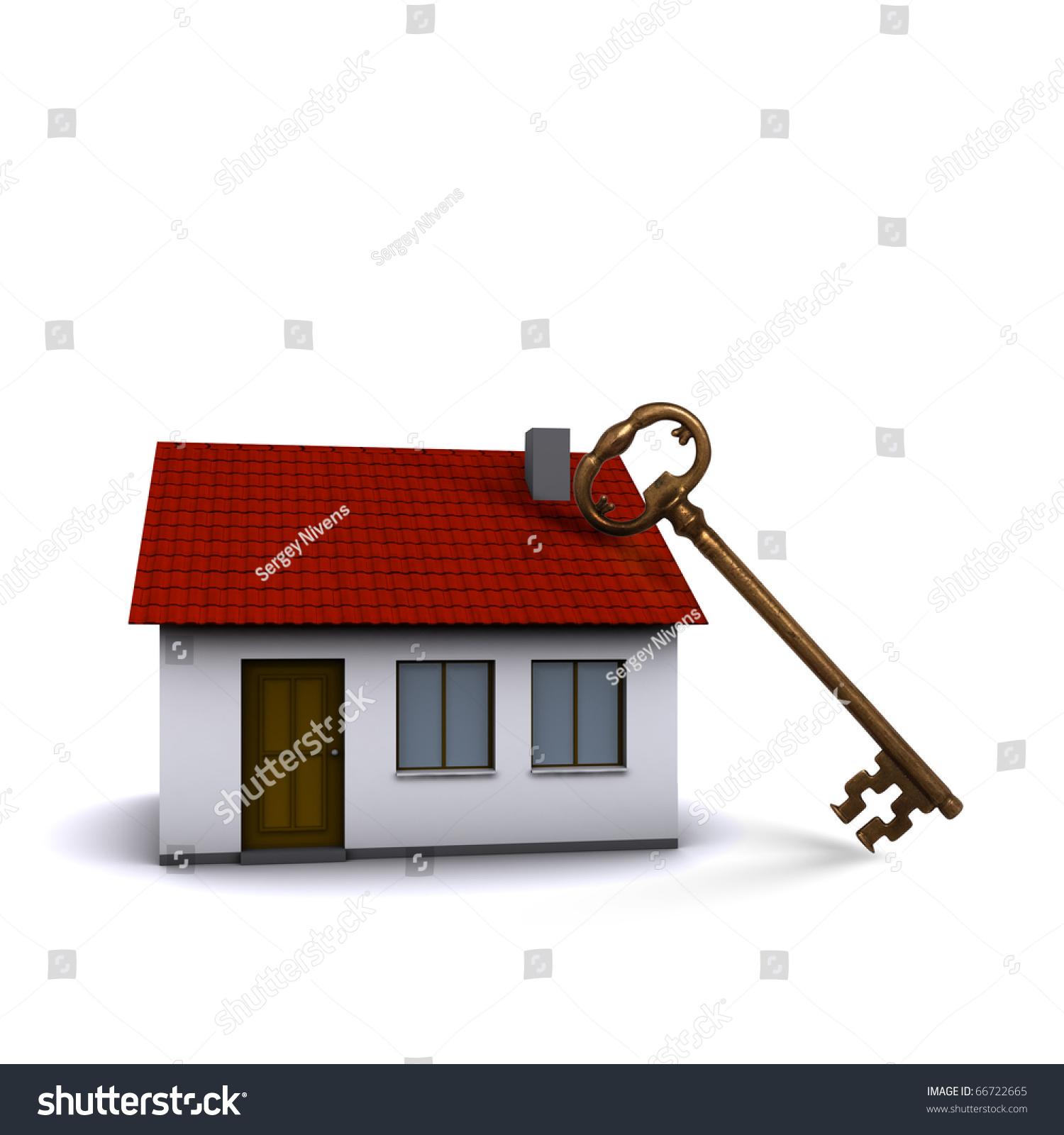 Little House On Hands Girls Symbol Stock Illustration Royalty Free
