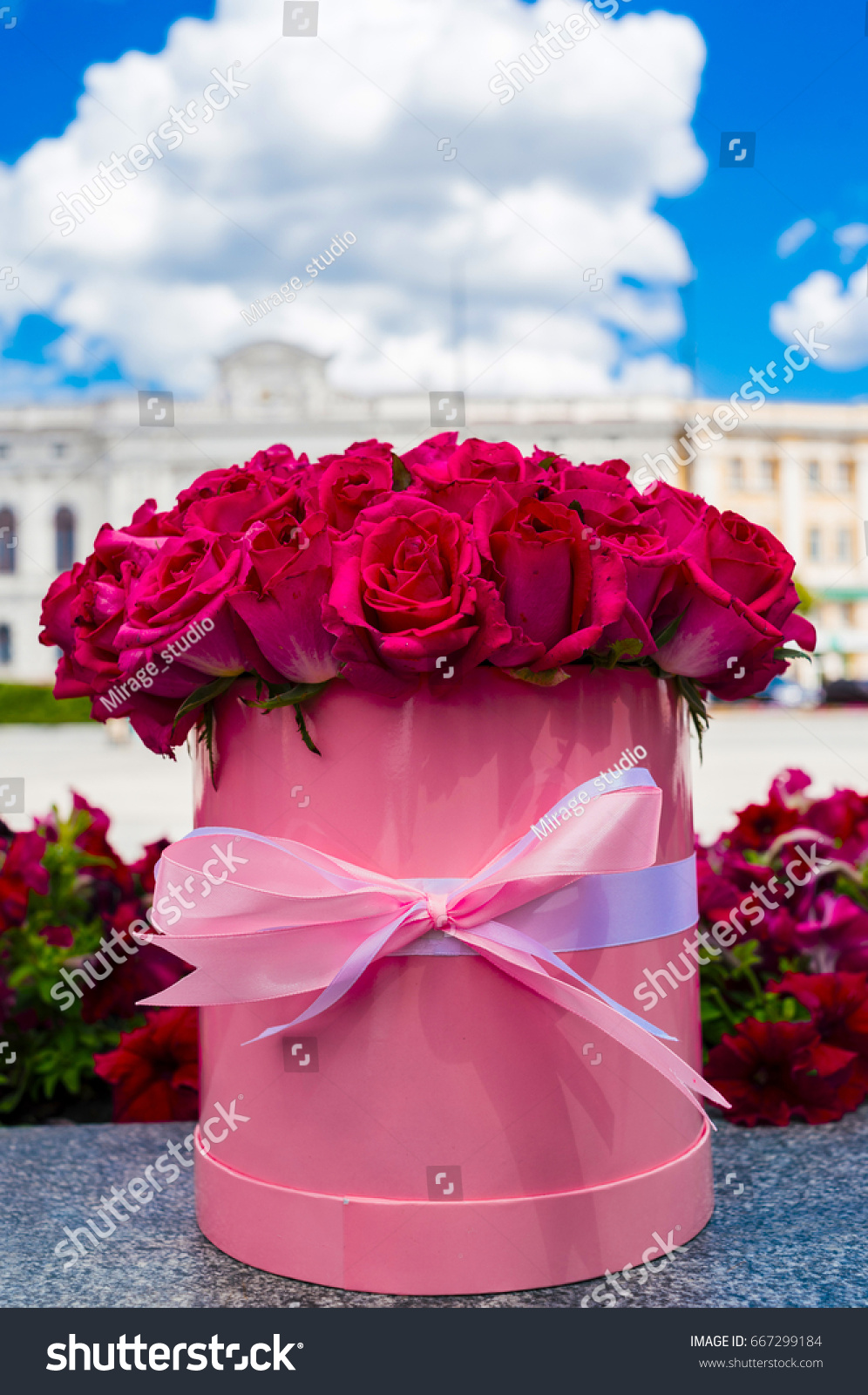Beautiful Flower Bouquet Pink Roses Big Stock Photo Edit Now