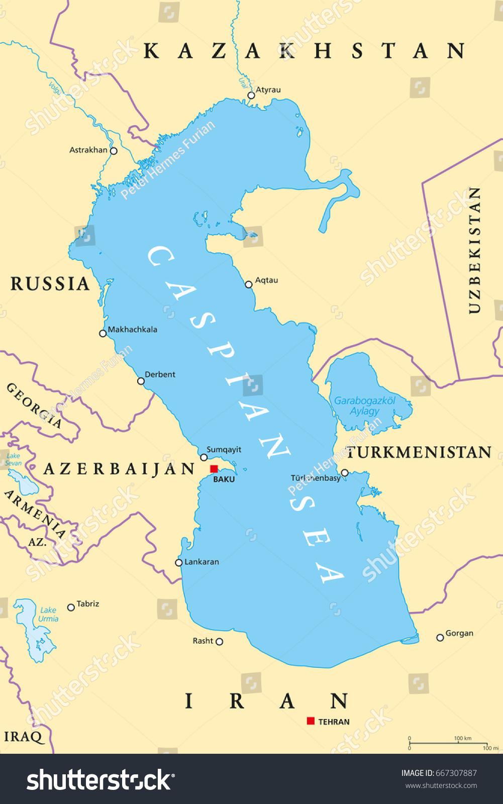 caspian sea map map of the caspian sea nations online project