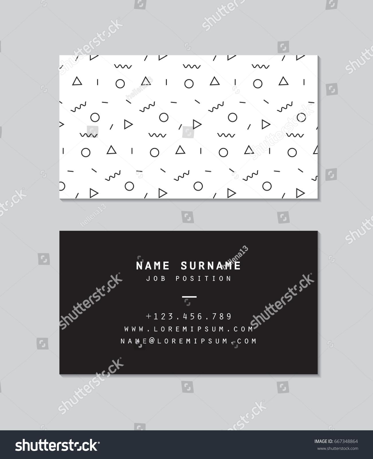 modern business card template memphis pattern stock vector