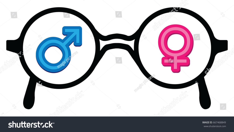 Vector illustration glasses male female symbols stock vector vector illustration of glasses with male and female symbols for gender vision designs buycottarizona