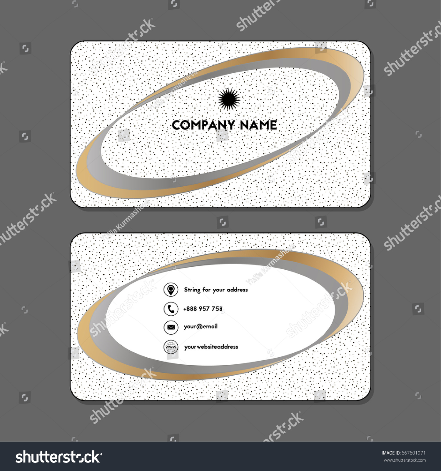 Visiting Card Business Card Ellipse Stock Vector 667601971 ...