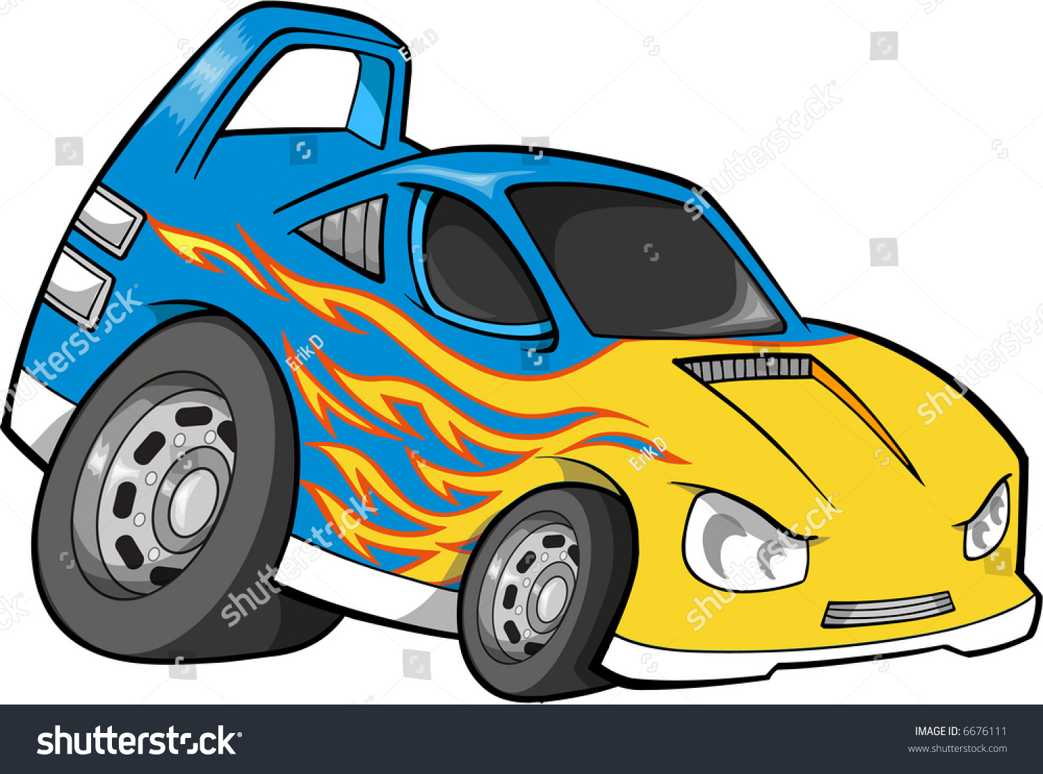 Hot Rod Race Car Vector Illustration Stock Vector 6676111 - Shutterstock