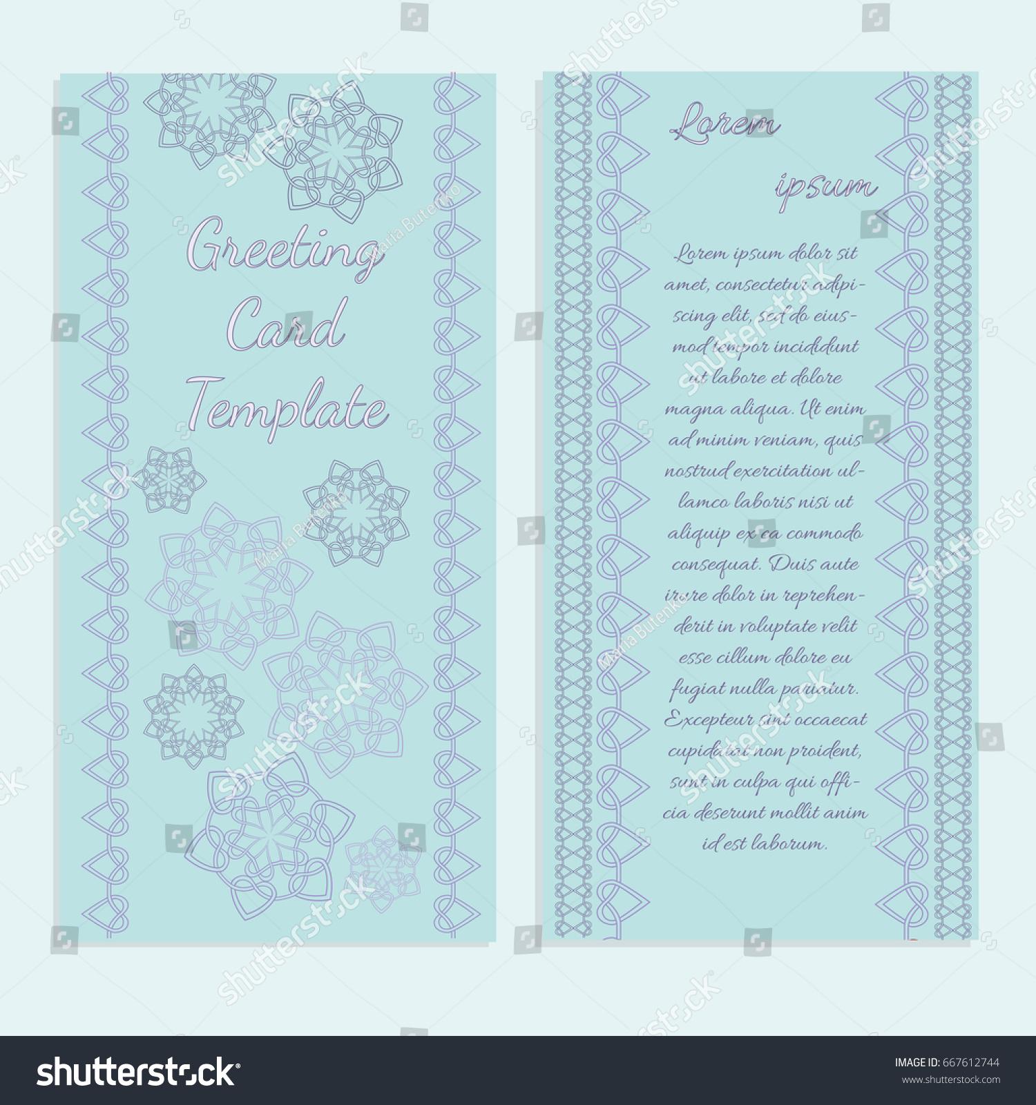 templates greeting wedding invitation cards brochures stock vector