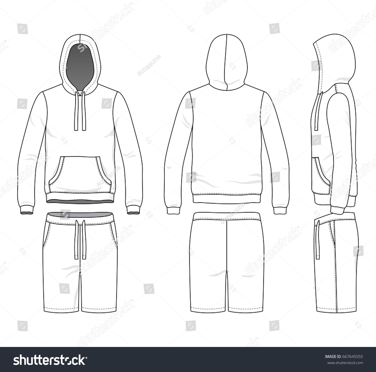 blank clothing templates vector illustration sweatshirt stock vector