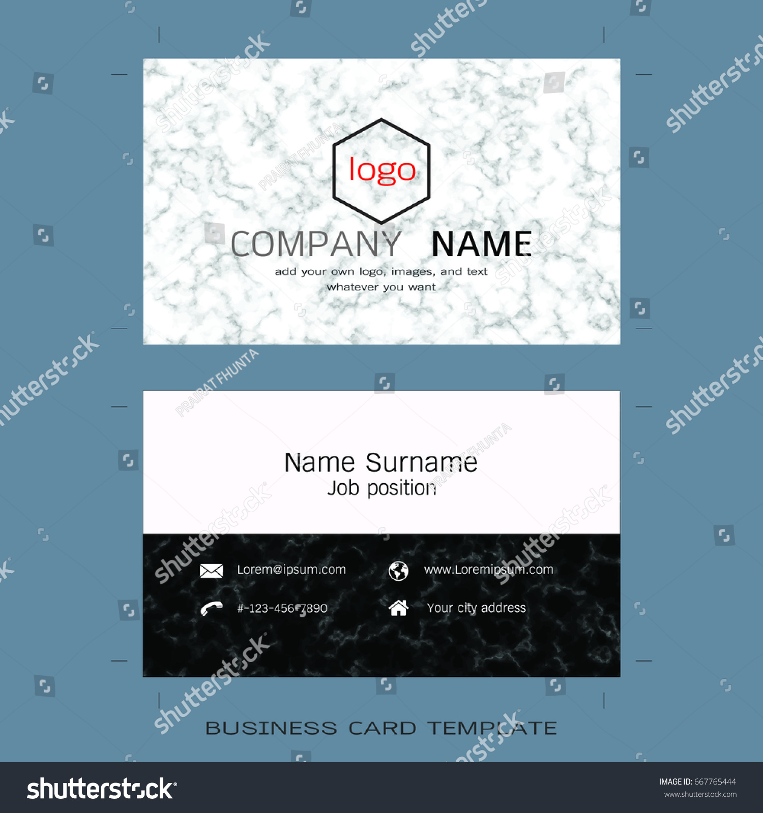 Modern designer business card layout templates stock vector modern designer business card layout templates marble texture background easy to use by print magicingreecefo Choice Image