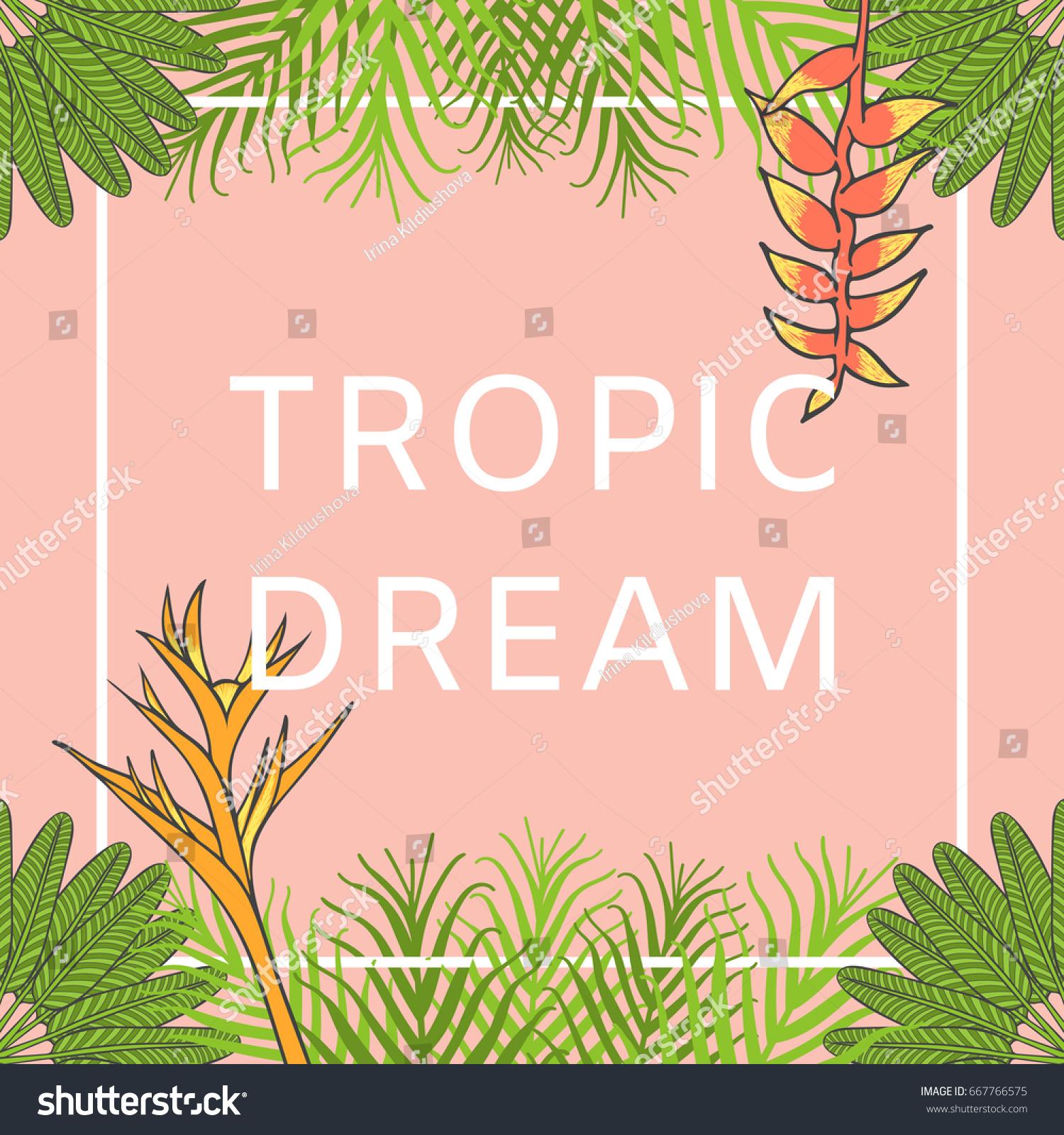 flower hawaiian background vector floral summer stock vector 667766575 shutterstock. Black Bedroom Furniture Sets. Home Design Ideas
