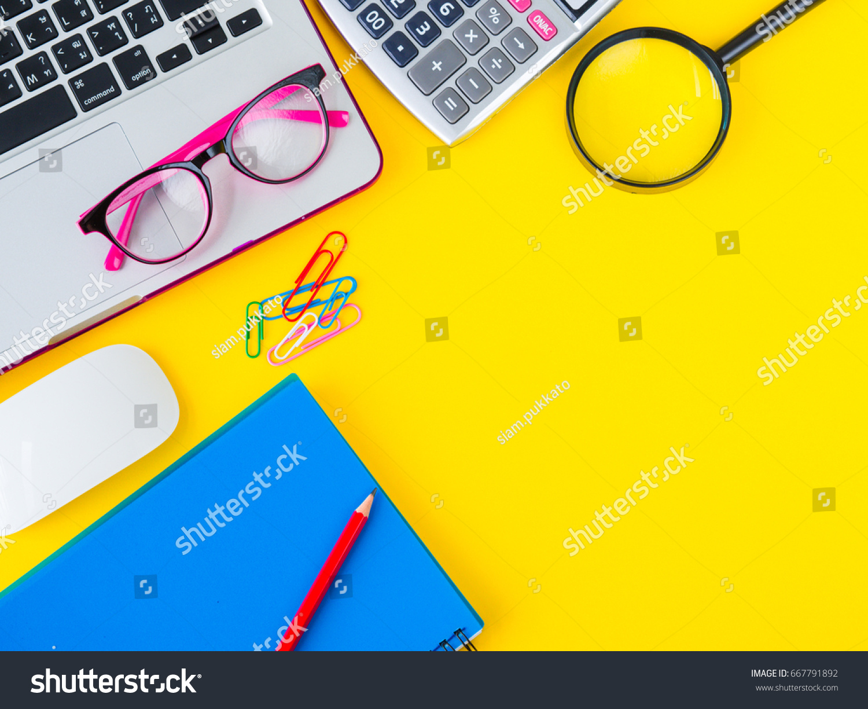 Electronic calculator, scissors, protractor, sharpener, cutter.