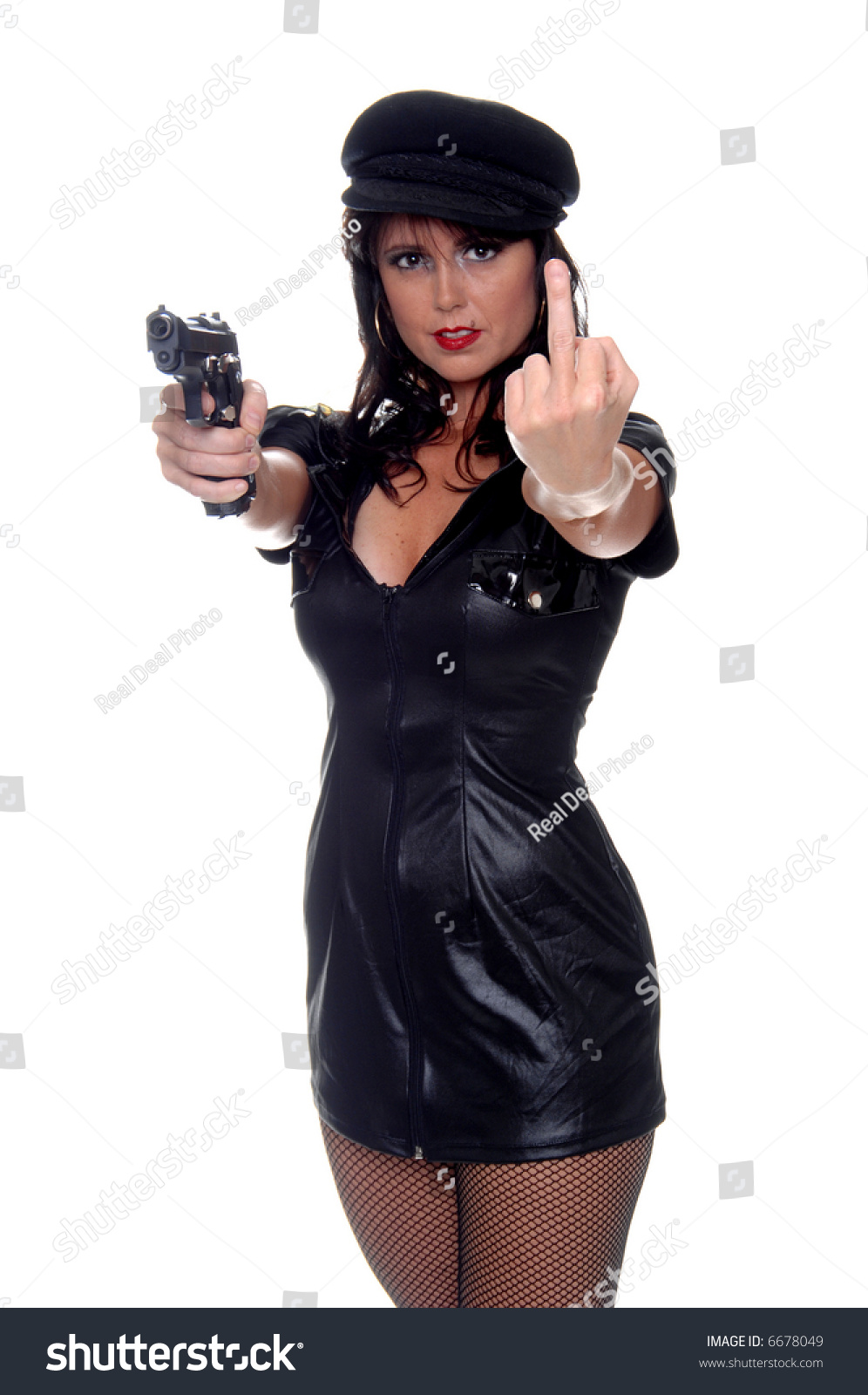 very young police woman pistol stock photo 6678049 shutterstock