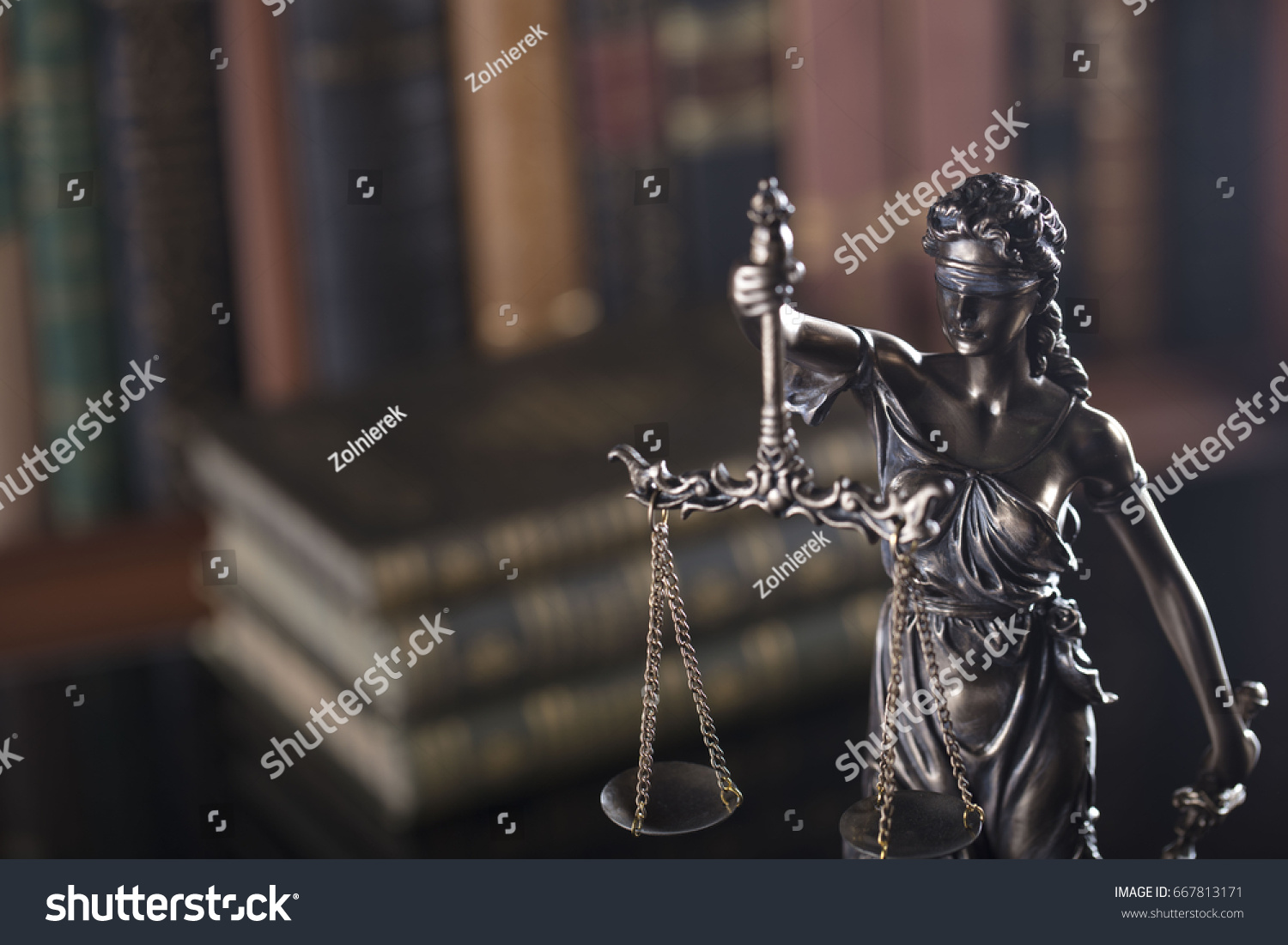 Criminal Justice Law Symbols Gavel Scales Stock Photo (Edit