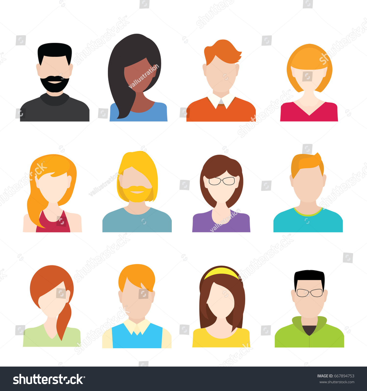 People icons set stock vector 667894753 shutterstock people icons set biocorpaavc
