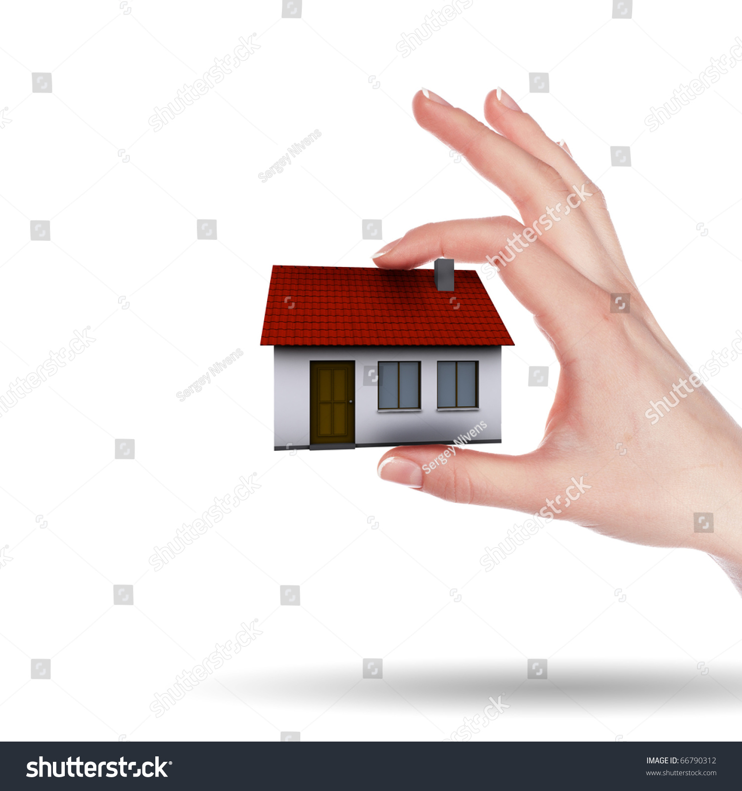 Little House On The Hands And The Girls Symbol Of A Successful Real