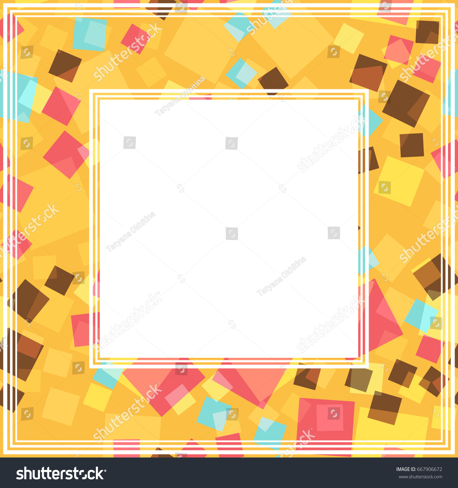abstract mosaic frames isolated on white background templates for photo or images - Mosaic Frames