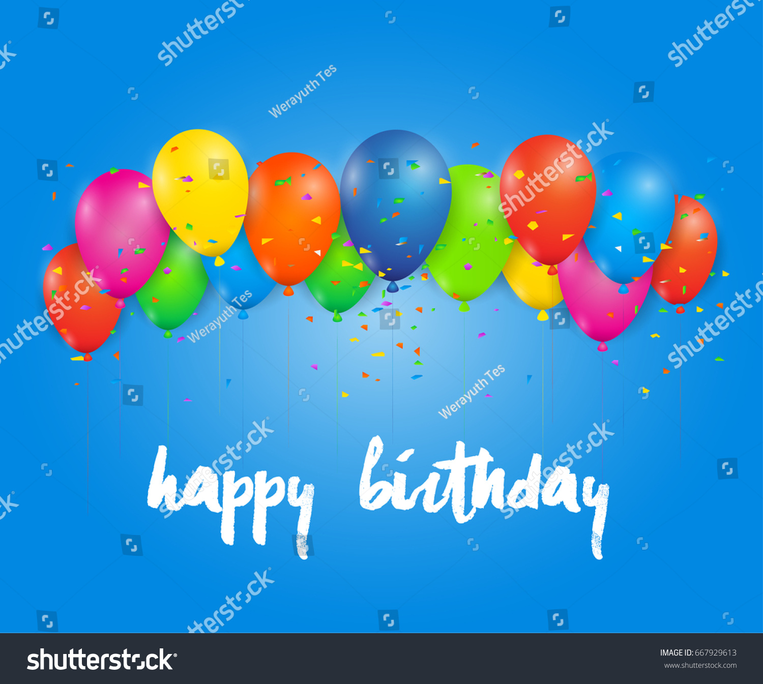 Happy birthday greeting card on background stock vector royalty happy birthday greeting card on background vector illustration design for greeting cards and poster with m4hsunfo