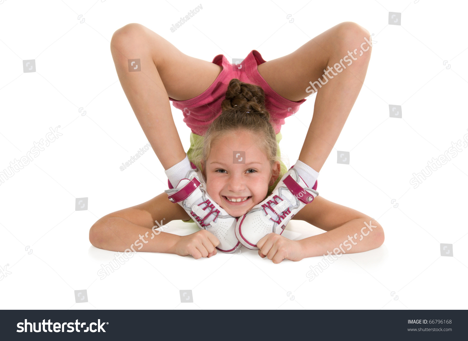 Has touched flexible gymnast girls right. good