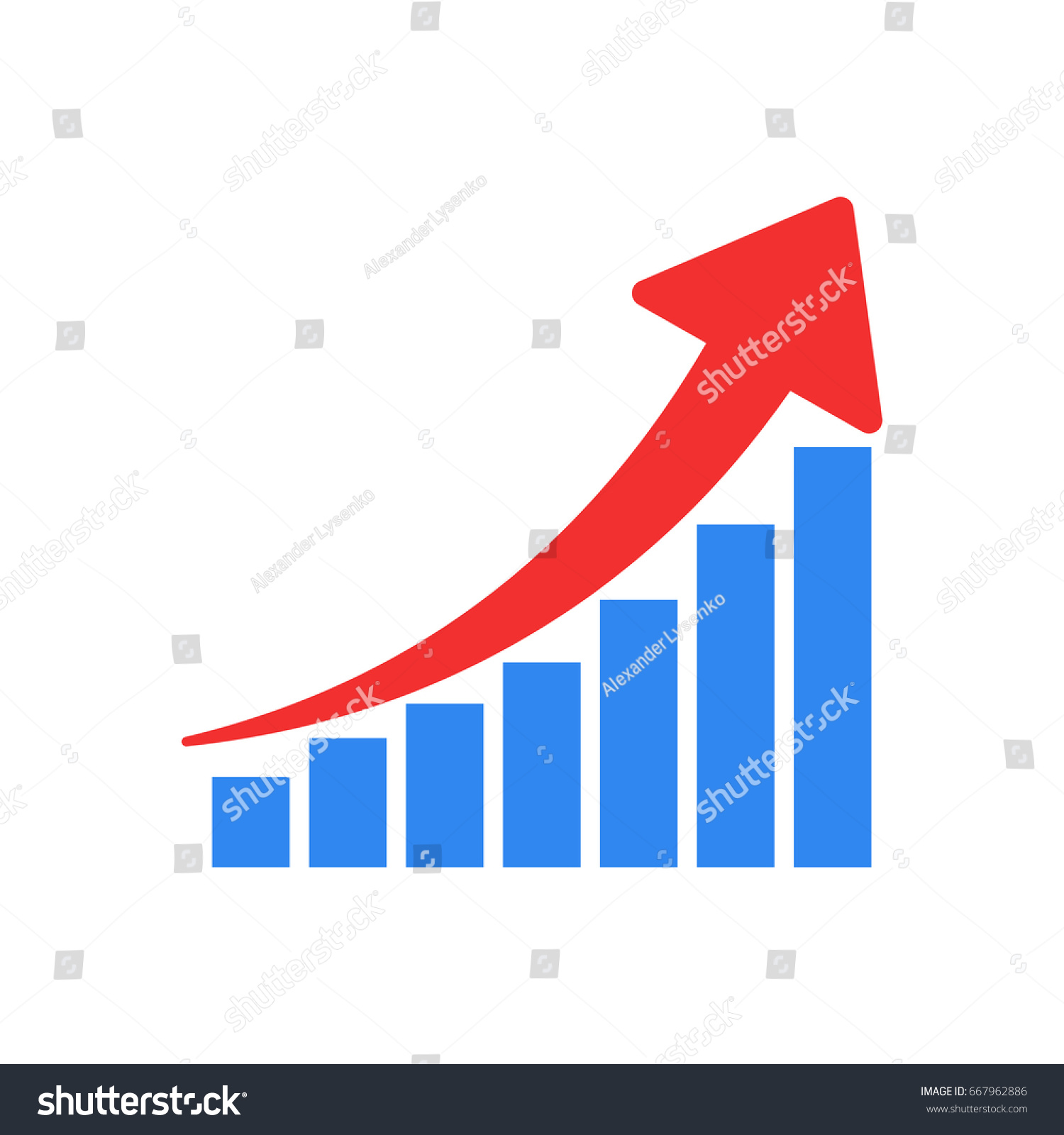 Growth chart icon grow diagram flat stock vector 667962886 growth chart icon grow diagram flat vector illustration business concept nvjuhfo Gallery