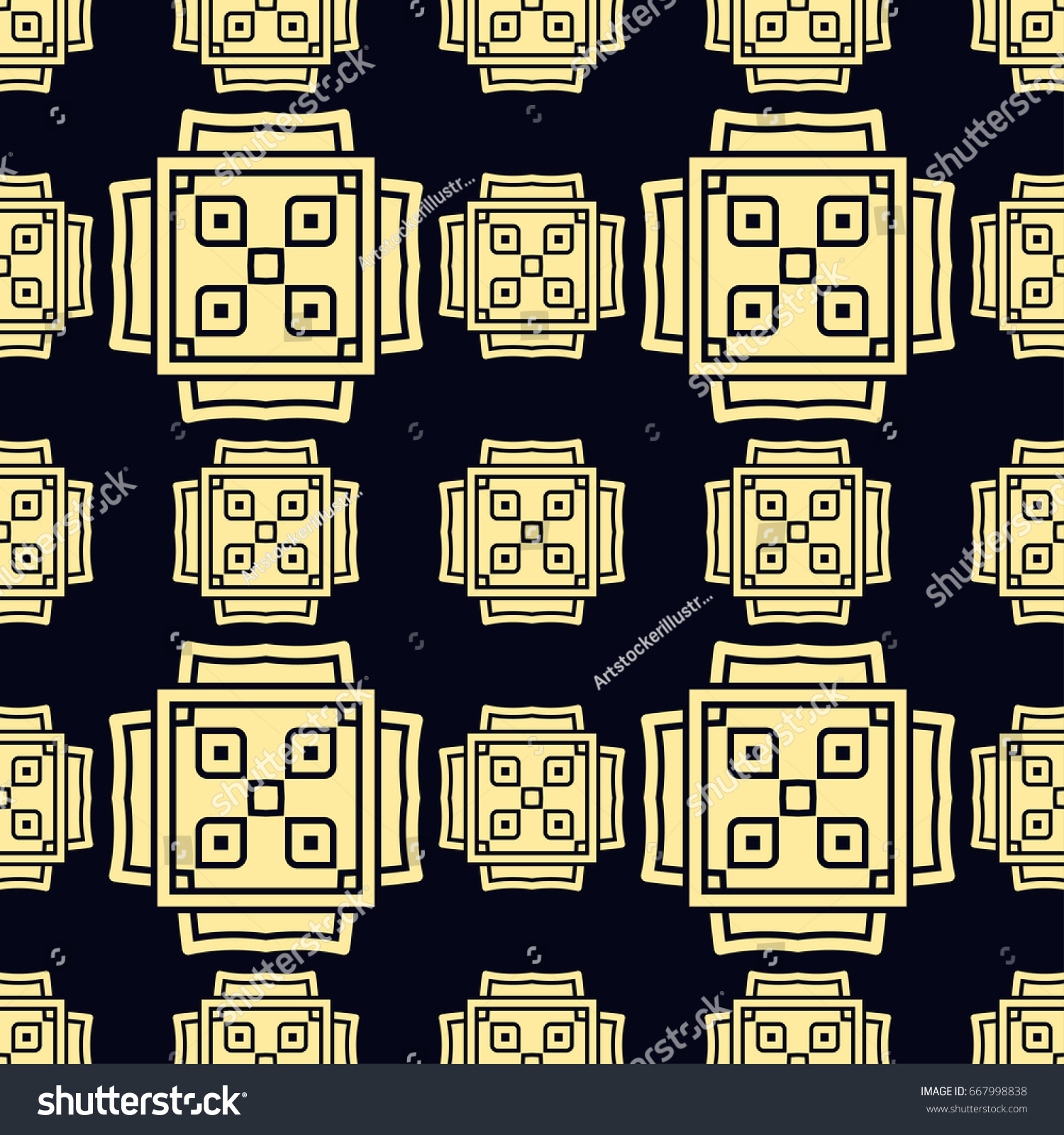 Seamless vintage wallpaper pattern. Ornamental decorative background.  Vector template can be used for design of wallpaper, fabric, oilcloth,  textile, ...