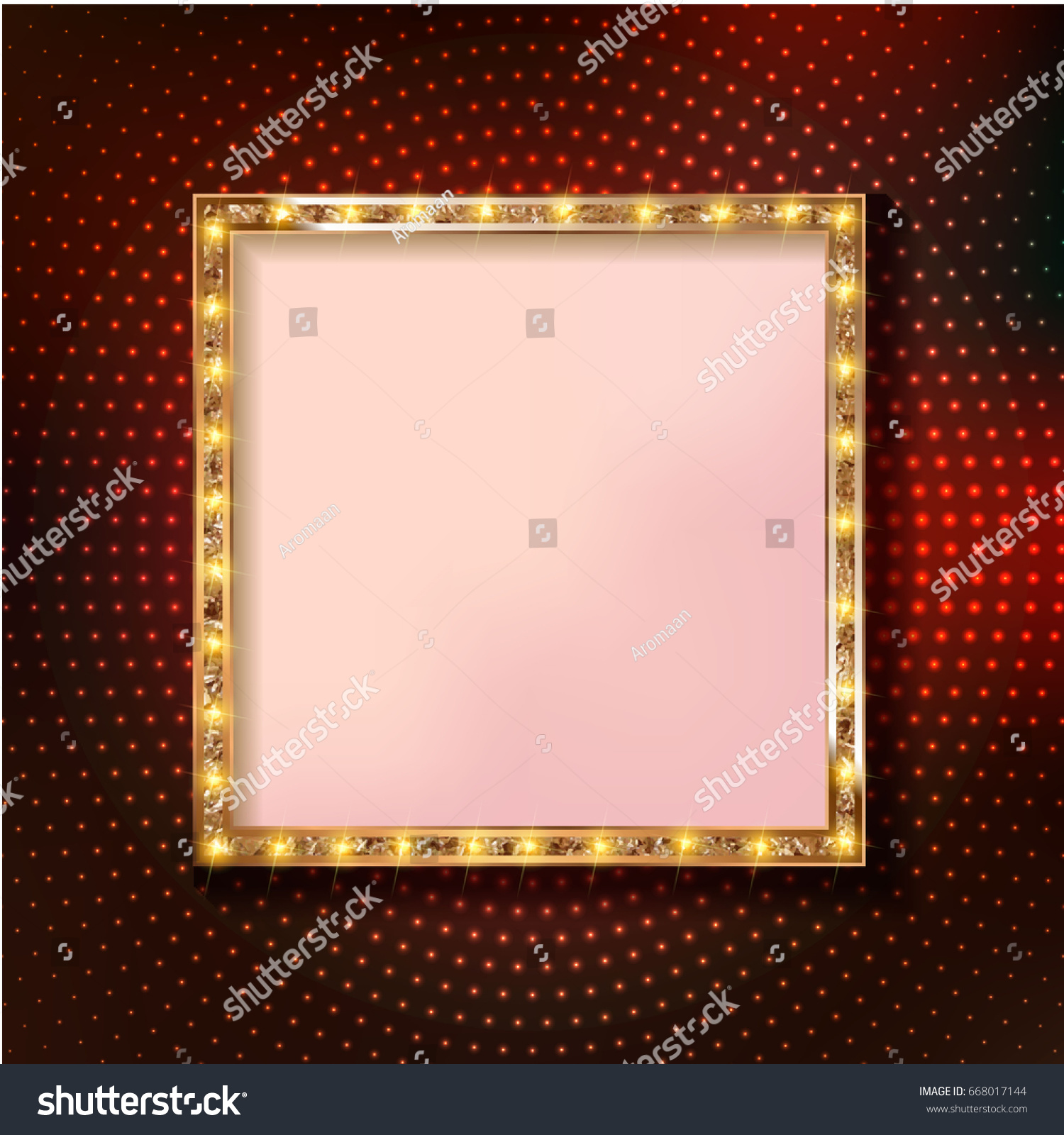 Colorful retro marquee stylish square rames stock vector 668017144 colorful retro marquee stylish square rames with light bulbs vector empty frames landmarks buycottarizona Gallery