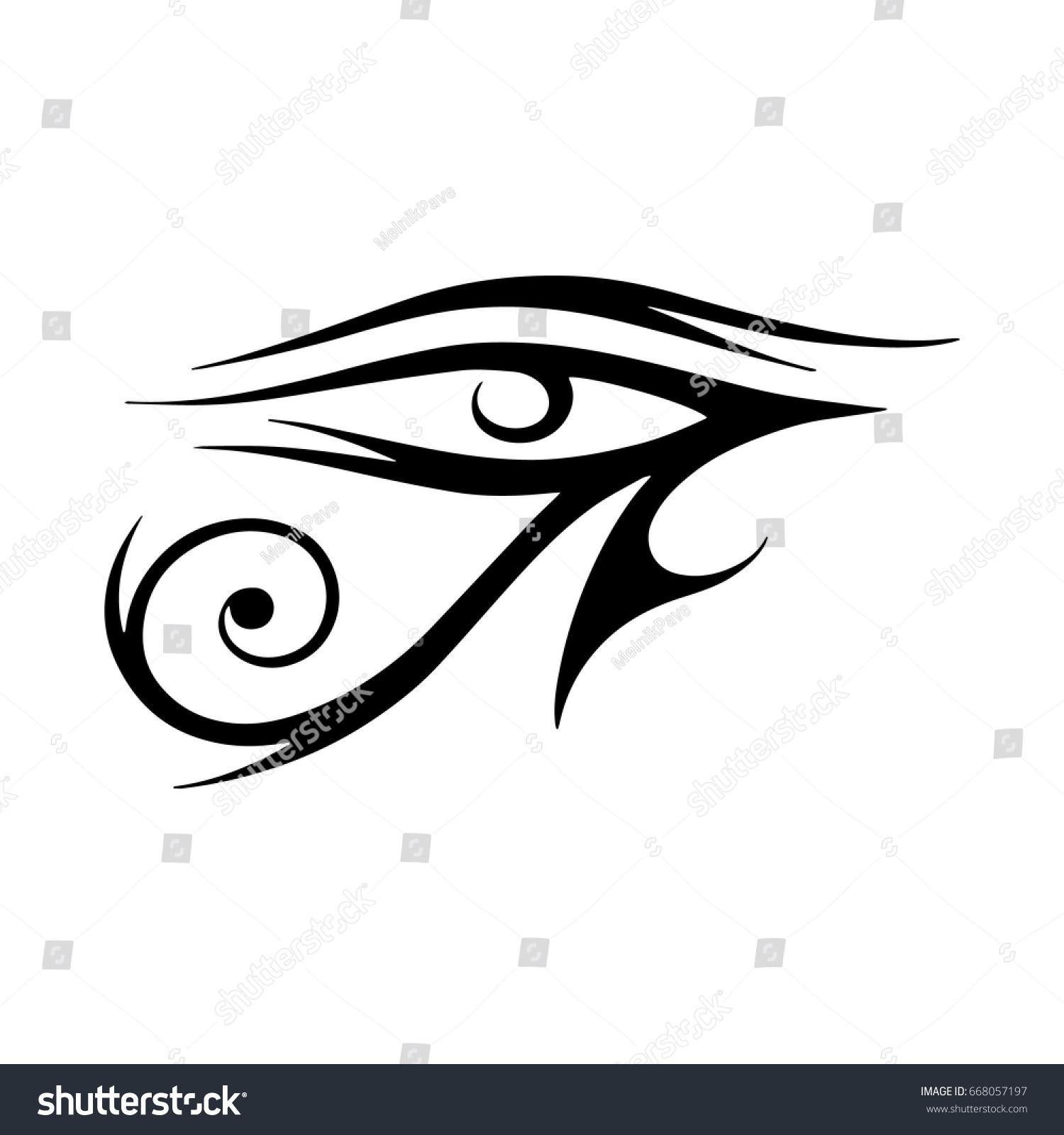 Sun eye horus reverse moon eye stock vector 668057197 shutterstock sun eye of horus reverse moon eye of thoth eye of horus vector biocorpaavc Gallery