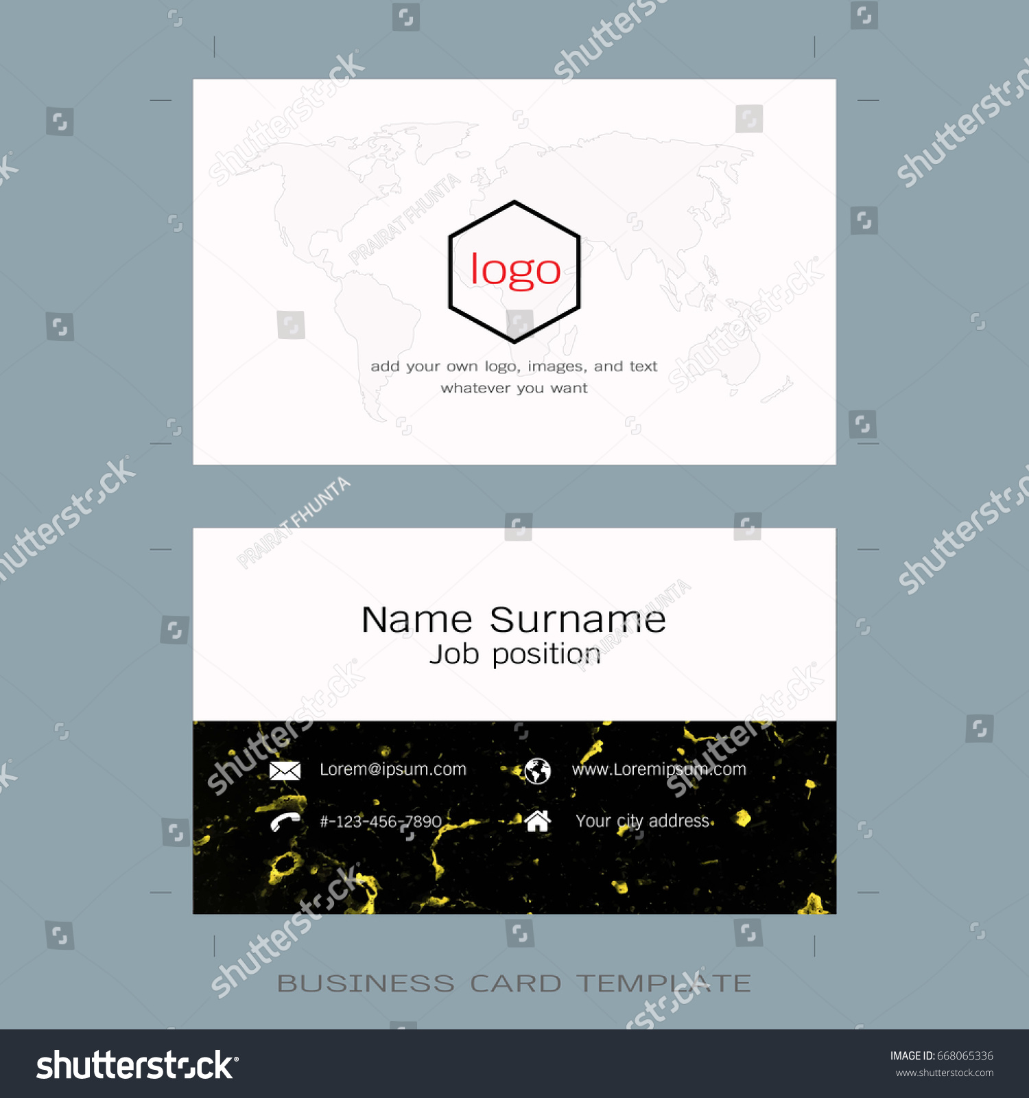modern business card layout templates world stock vector