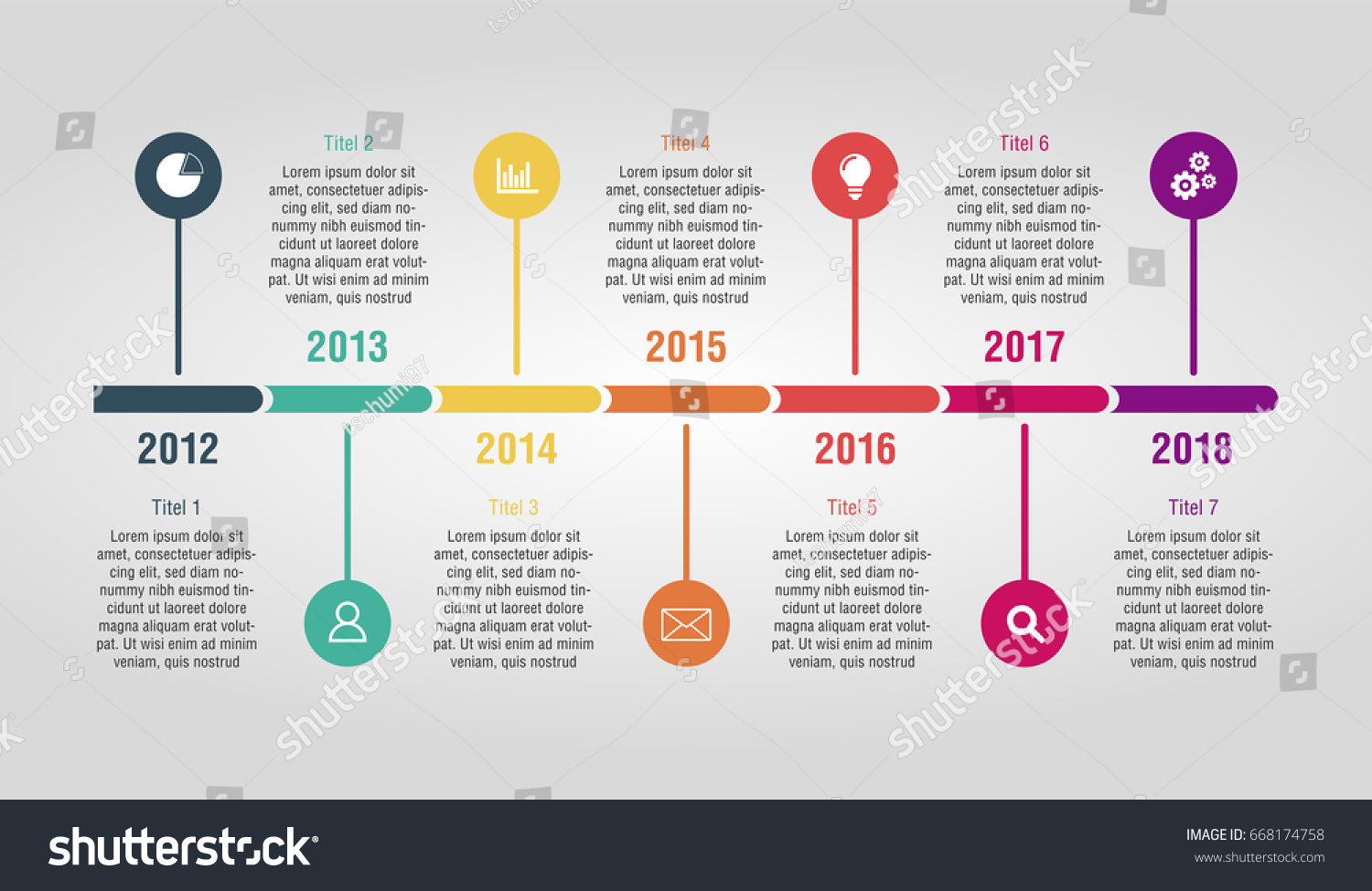 timeline space text presentation template stock vector 668174758, Powerpoint templates