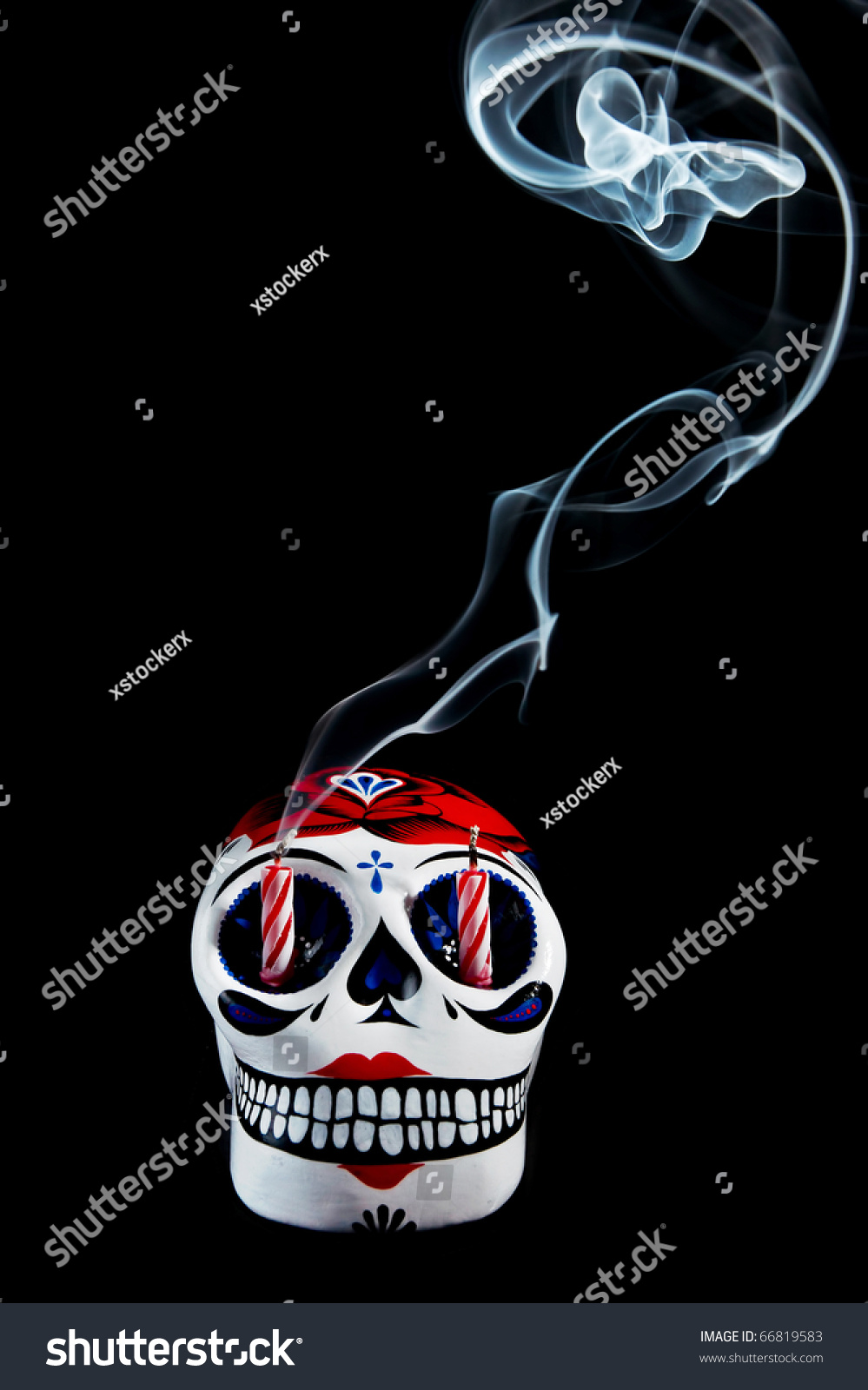 Traditional Mexican Symbol Day Dead Stock Photo Edit Now 66819583