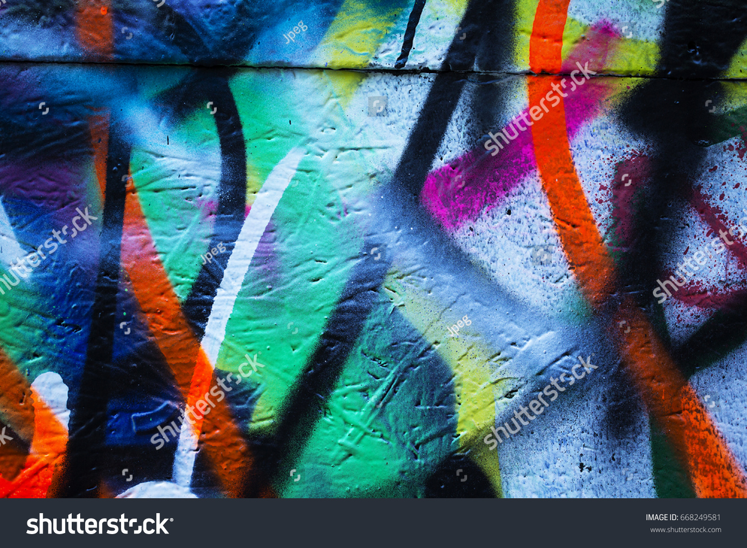Mix Spray Paint Colors On Wooden Stock Photo Edit Now 668249581