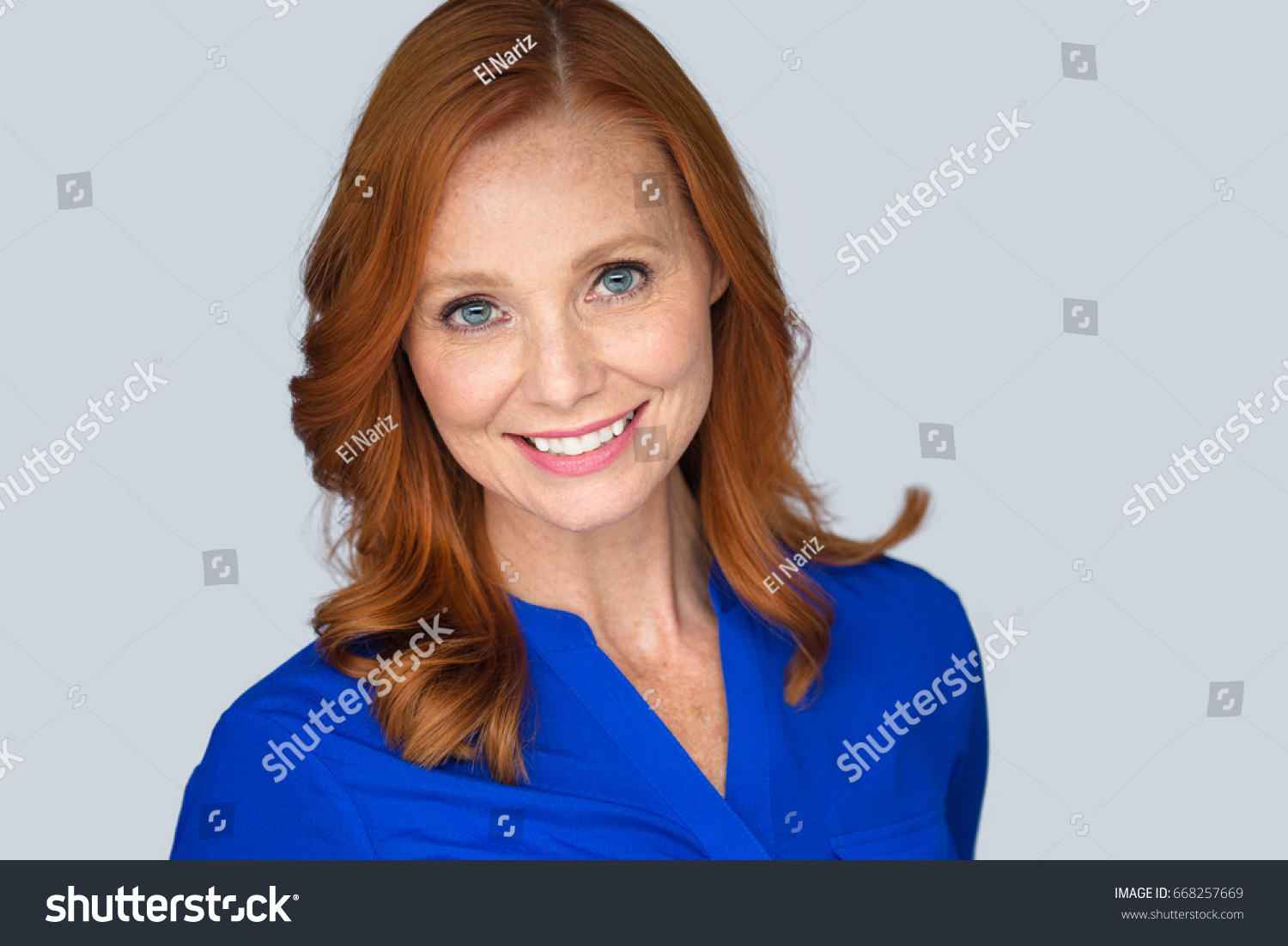 smiling cheerful pretty older woman aged stock photo (royalty free