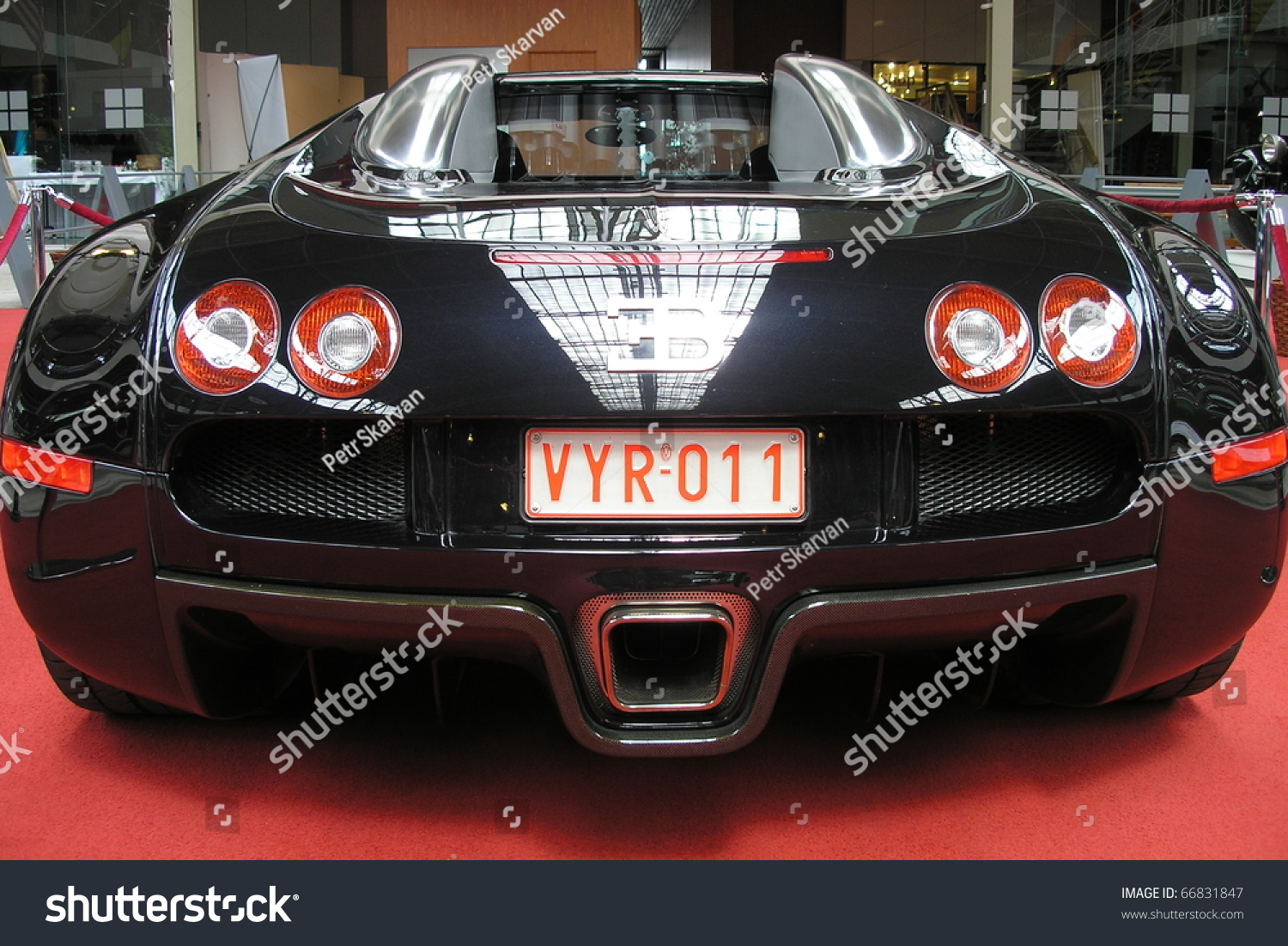 brussels belgium may 10 bugatti veyron stands on red carpet in autoworld. Black Bedroom Furniture Sets. Home Design Ideas