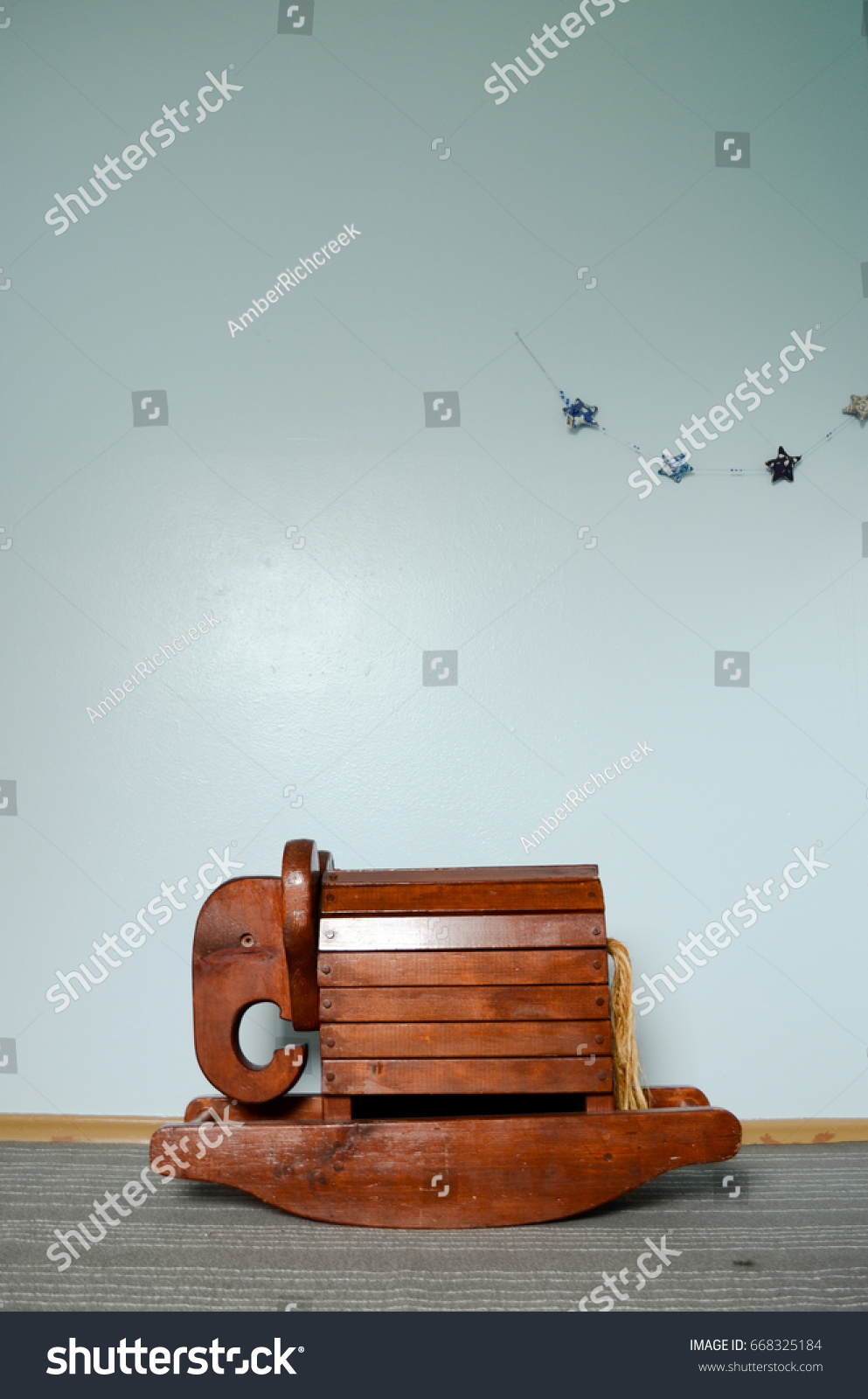 Antique Wooden Rocking Elephant Rocking Horse Stock Photo Edit Now 668325184