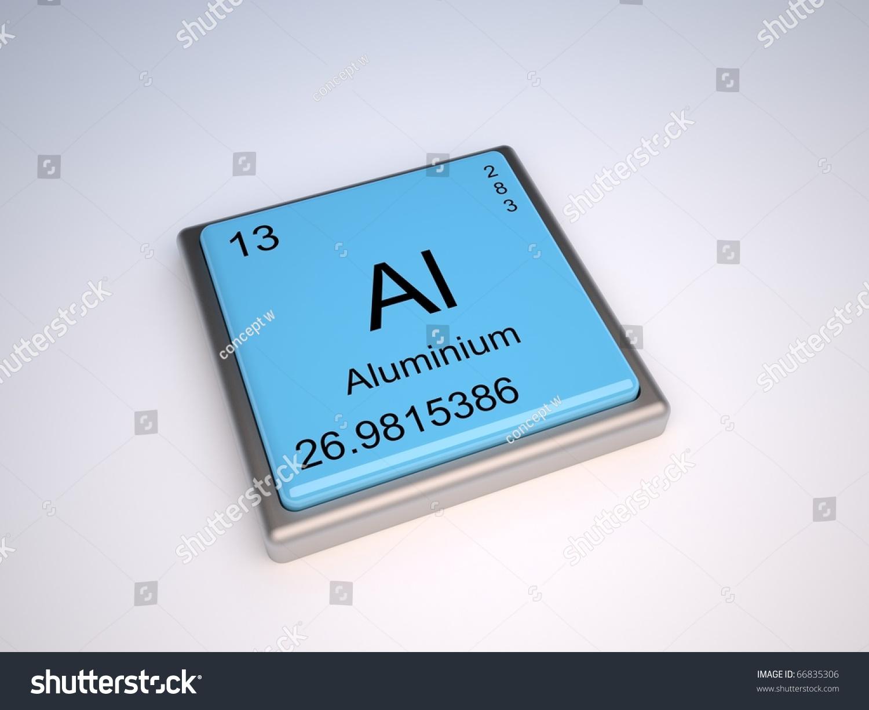 Aluminium chemical element periodic table symbol stock aluminium chemical element of the periodic table with symbol al gamestrikefo Images