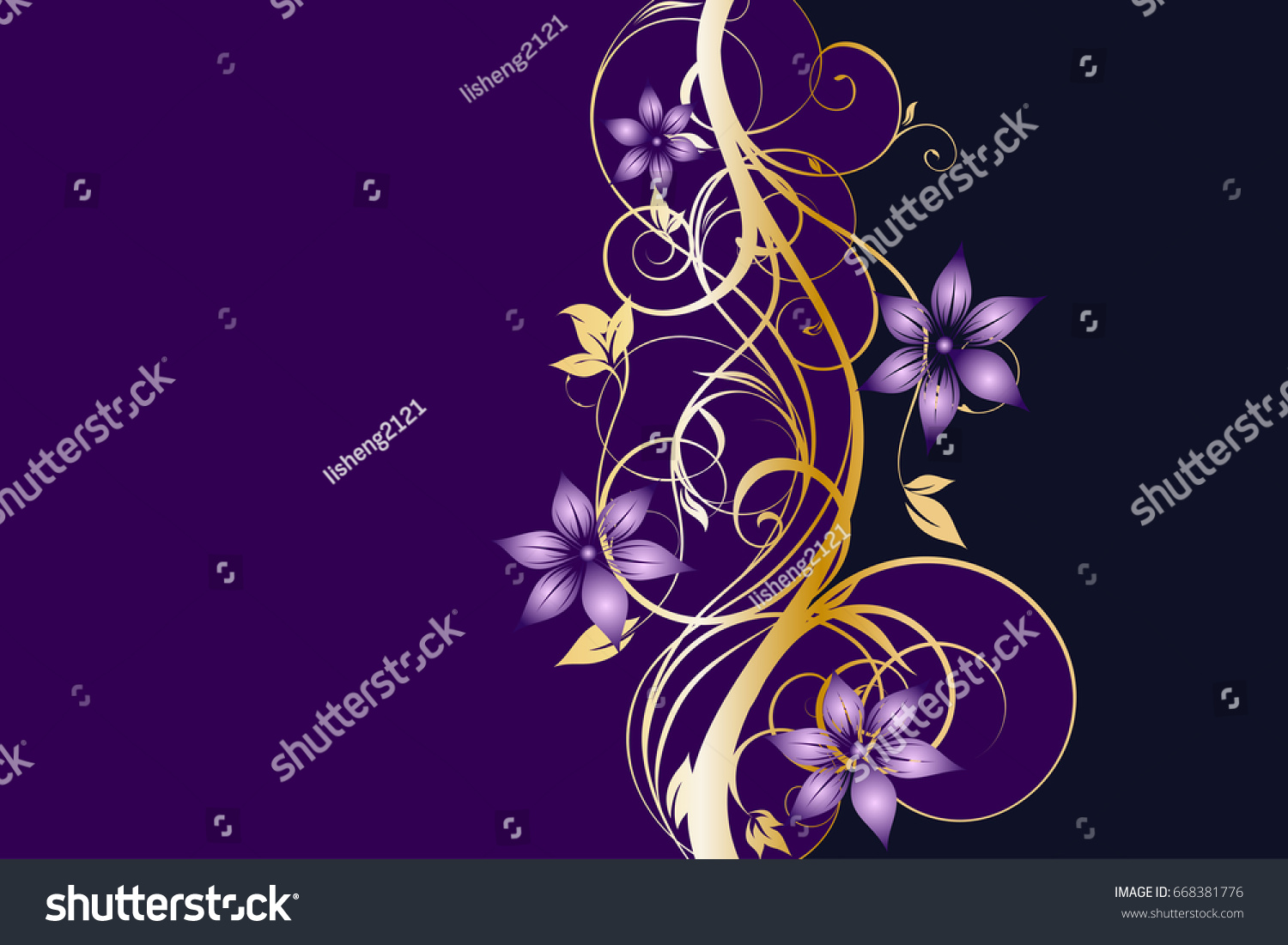 Purple Floral Background Images