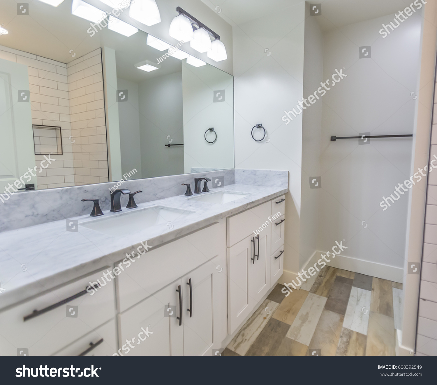 Model homes always show off beautiful bathrooms with clever design ...