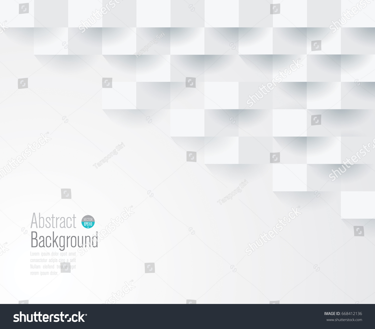 White geometric texture. Vector background can be used in cover design, book design, website background, CD cover, advertising. #668412136