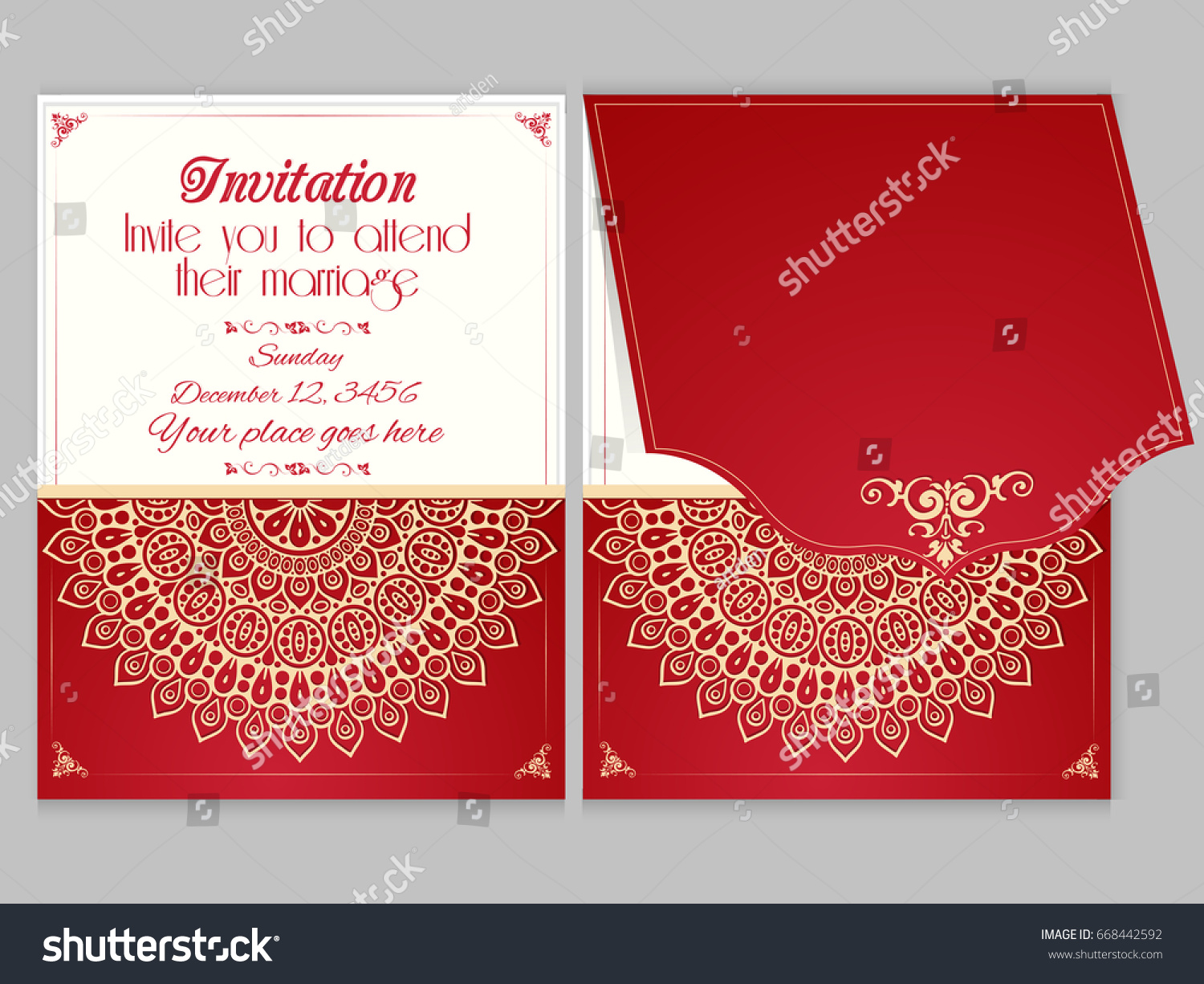 Nice Creative Wedding Card Design Templates Stock Vector (Royalty ...