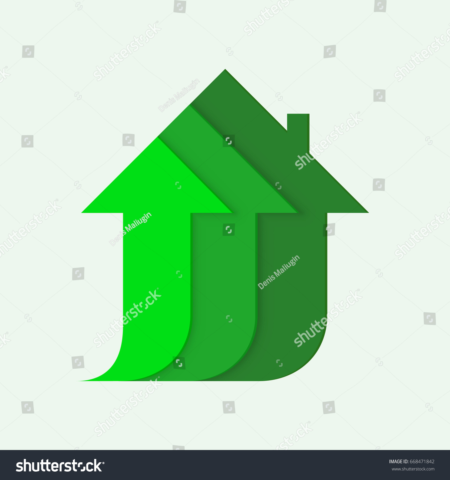 Arrows form silhouette house symbol construction stock vector arrows form the silhouette of a house symbol of construction growth of the housing buycottarizona Image collections