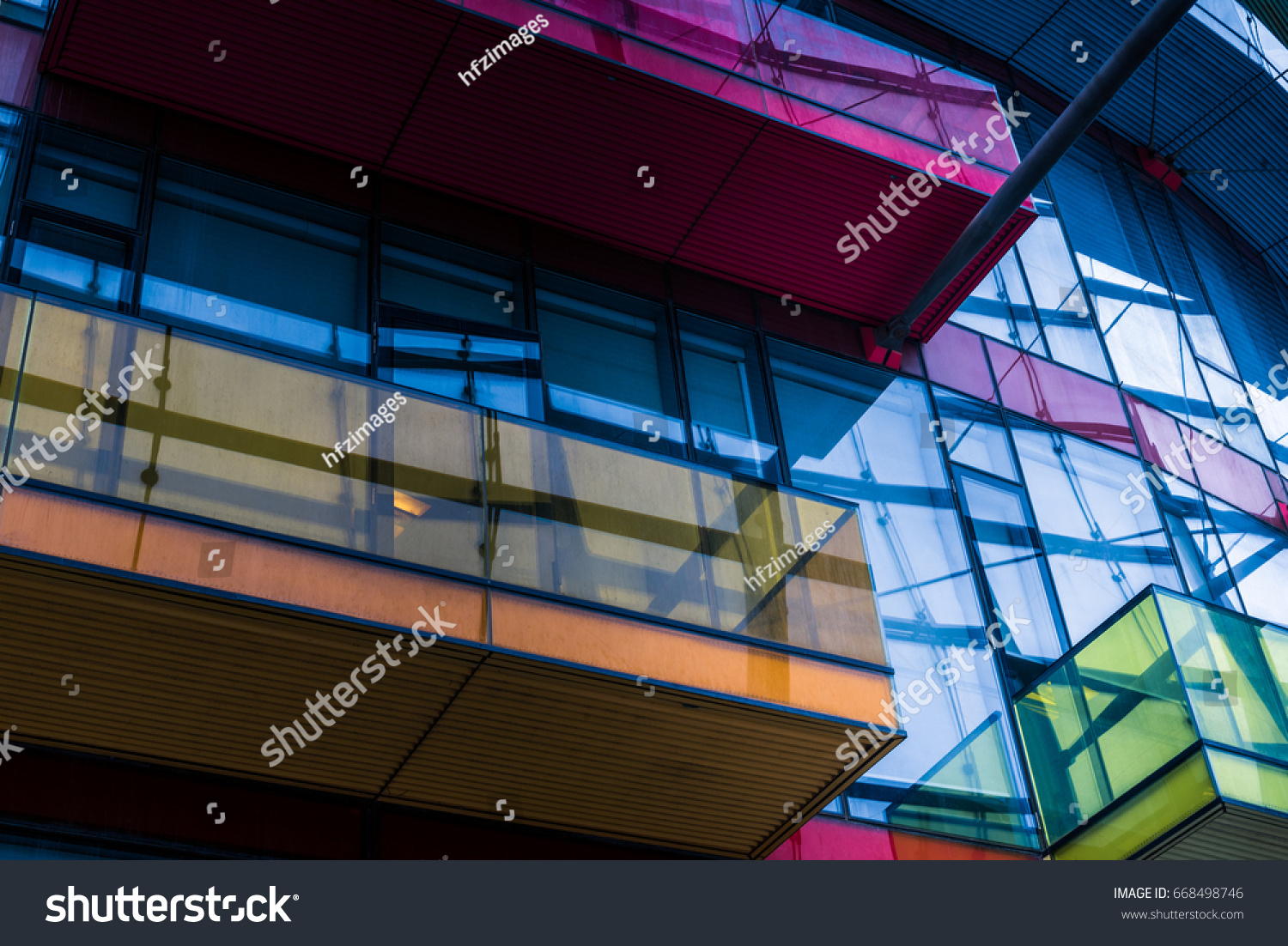 detail shot of modern architecture facade,business concepts,in city of China. #668498746