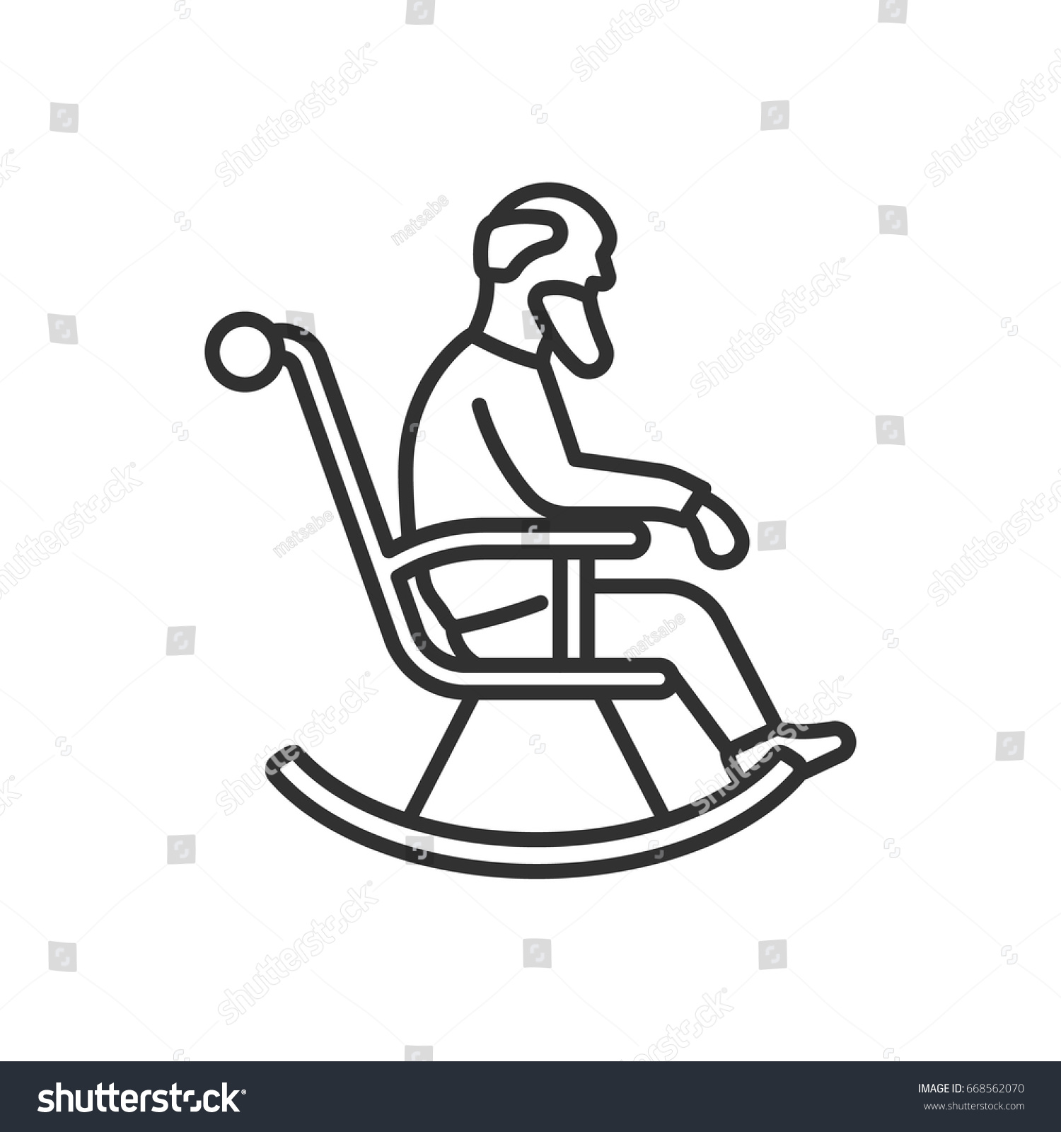 An Old Man On A Rocking Chair Granddad