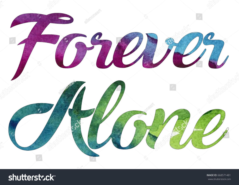forever alone stock illustration 668571481 shutterstock