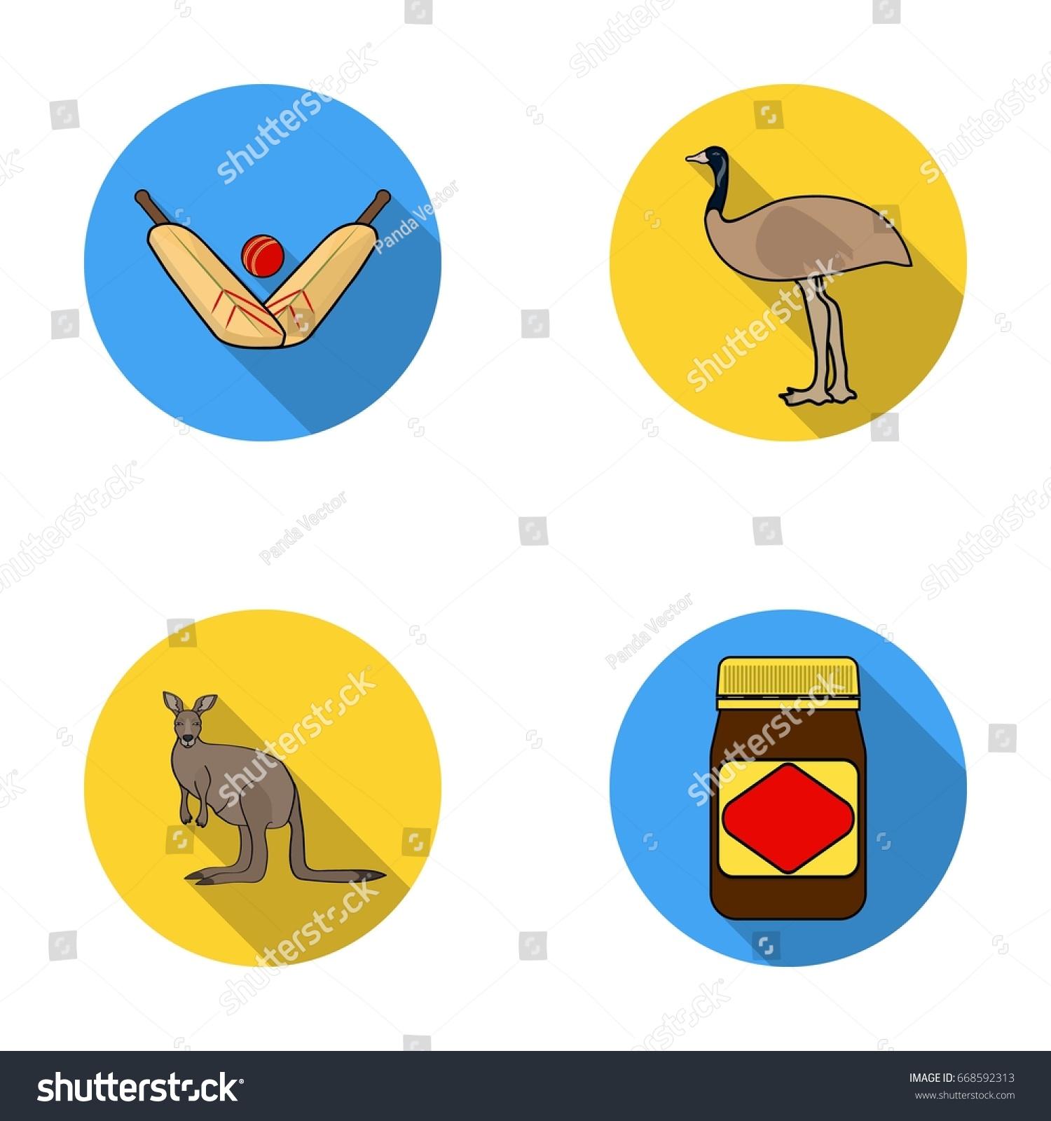 game cricket emu ostrich kangaroo popular stock illustration rh shutterstock com Cartoon Crickets Insect Crickets Chirping