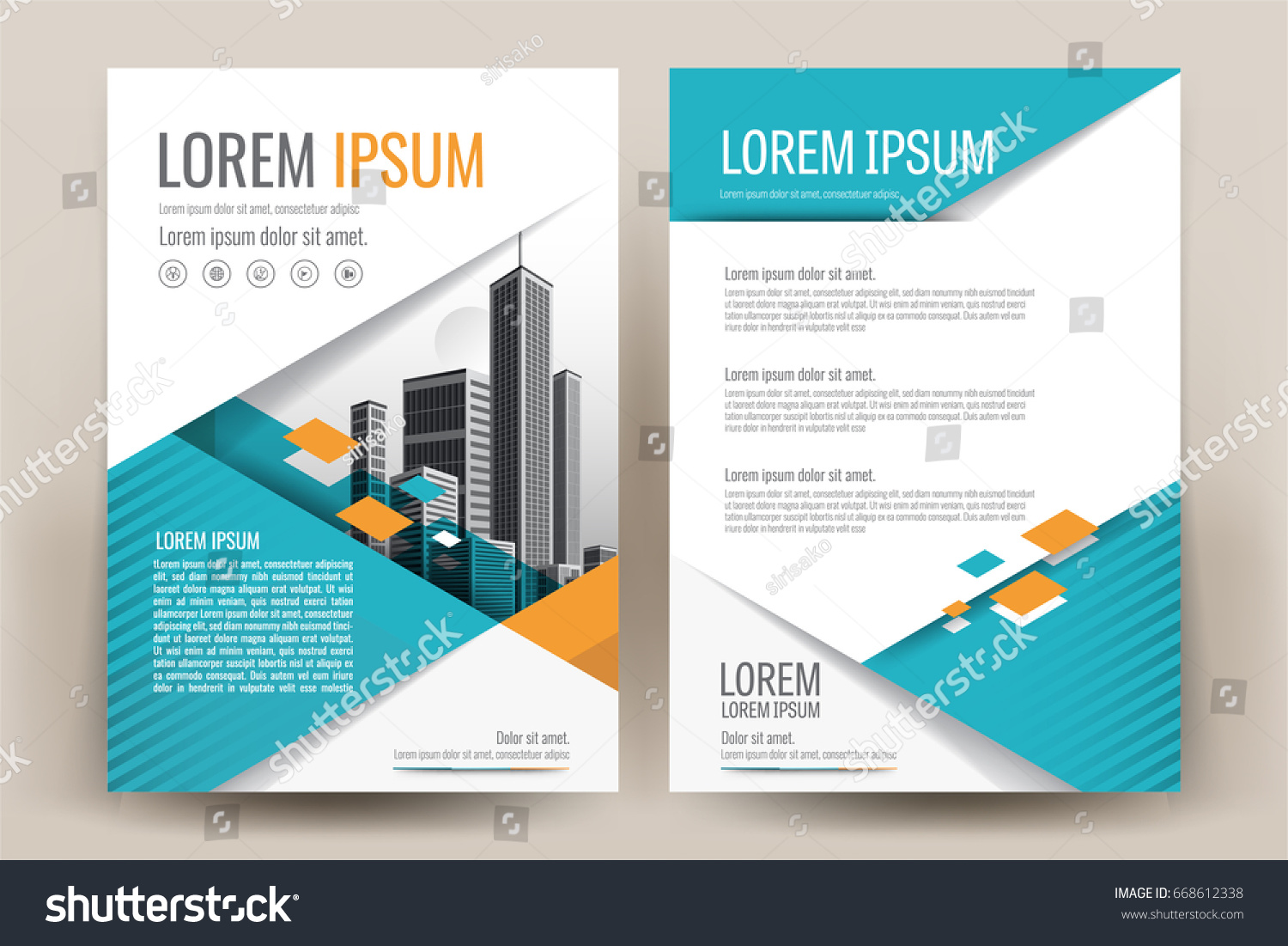 Exceptionnel Modern Business Brochure Layout Flyers Design Stock Vector  CU71