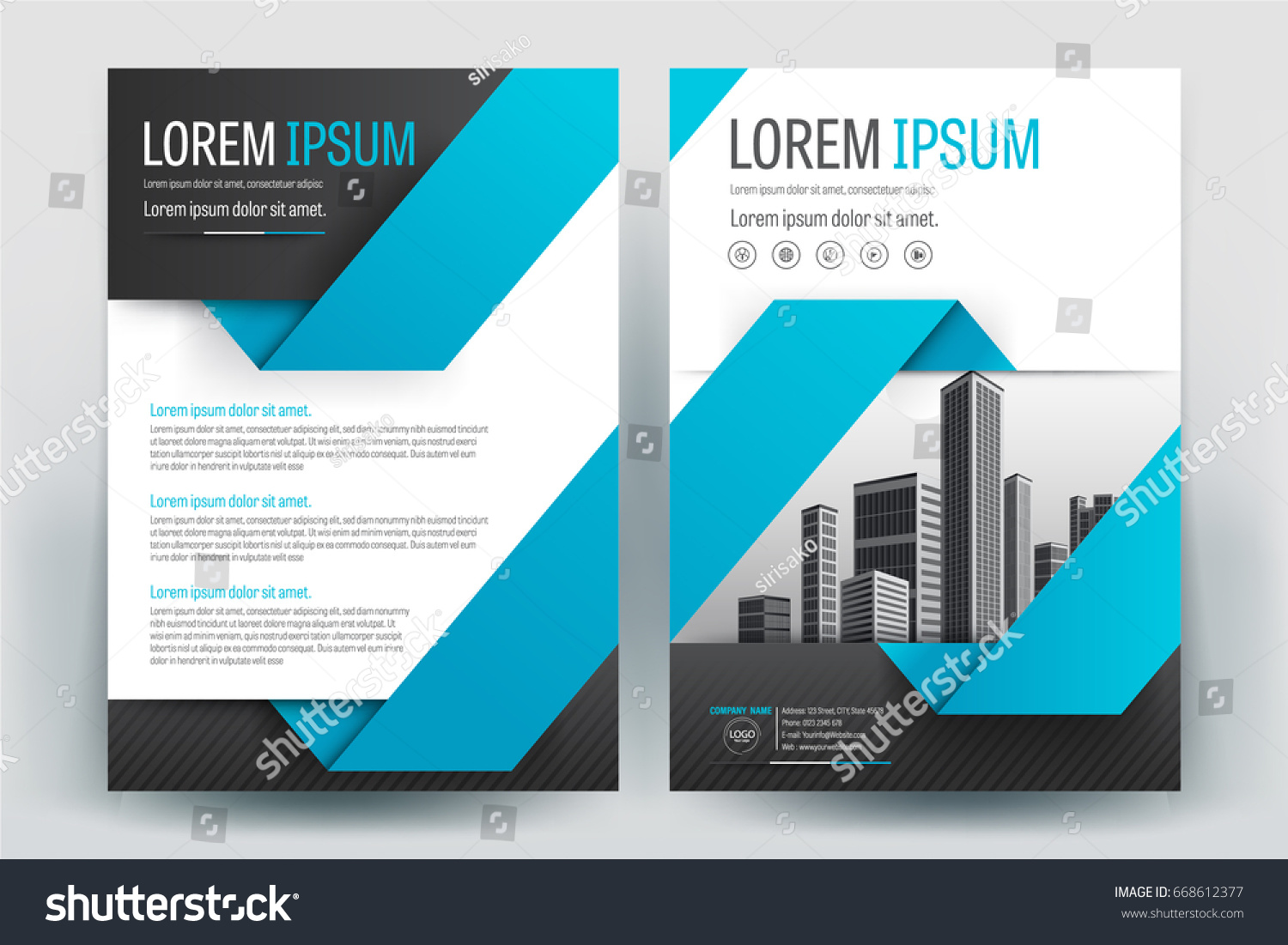 modern business brochure layout flyers design stock vector royalty