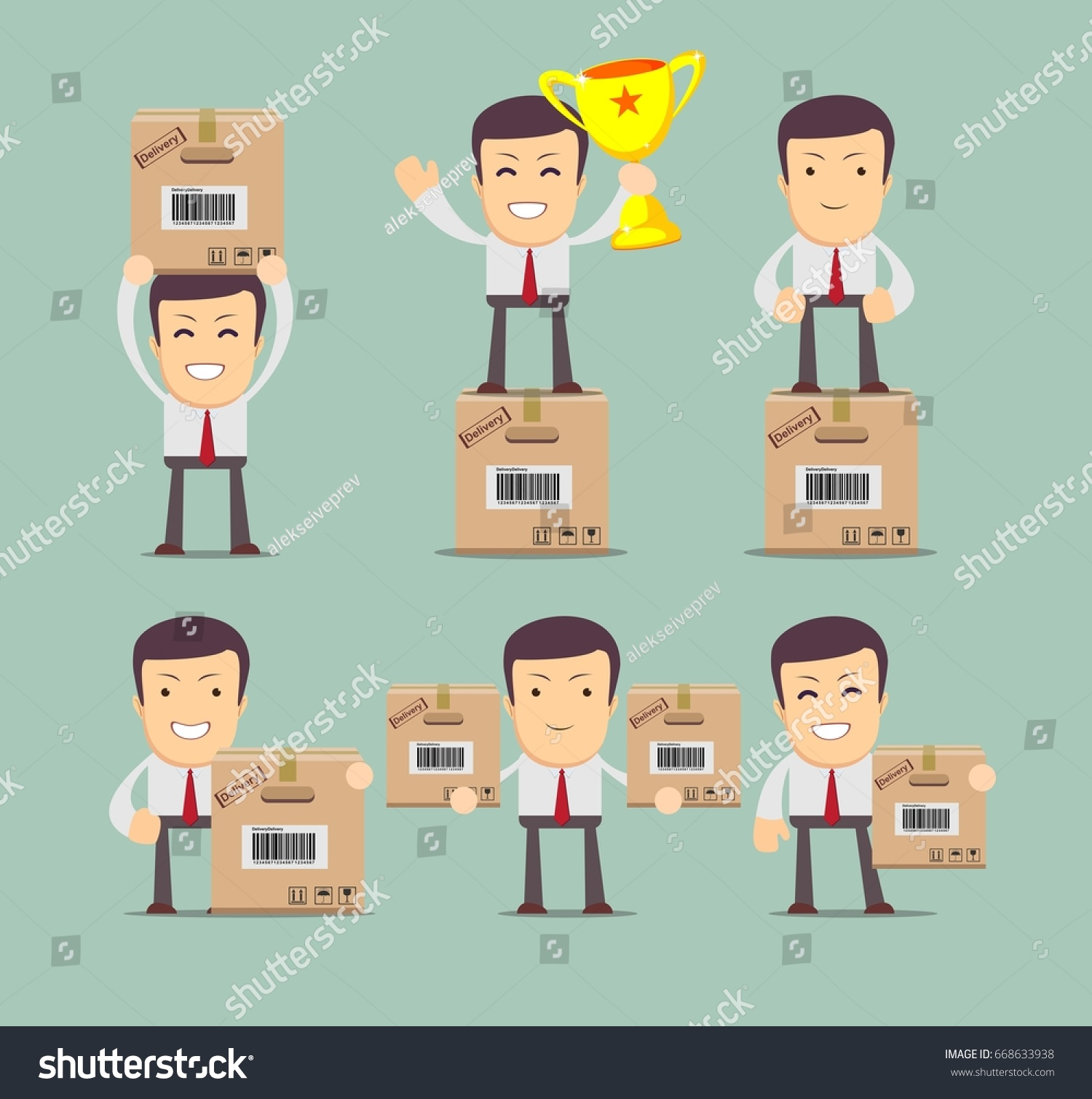 Set delivery service man box stock stock illustration 668633938 set delivery service man box stock stock illustration 668633938 shutterstock m4hsunfo