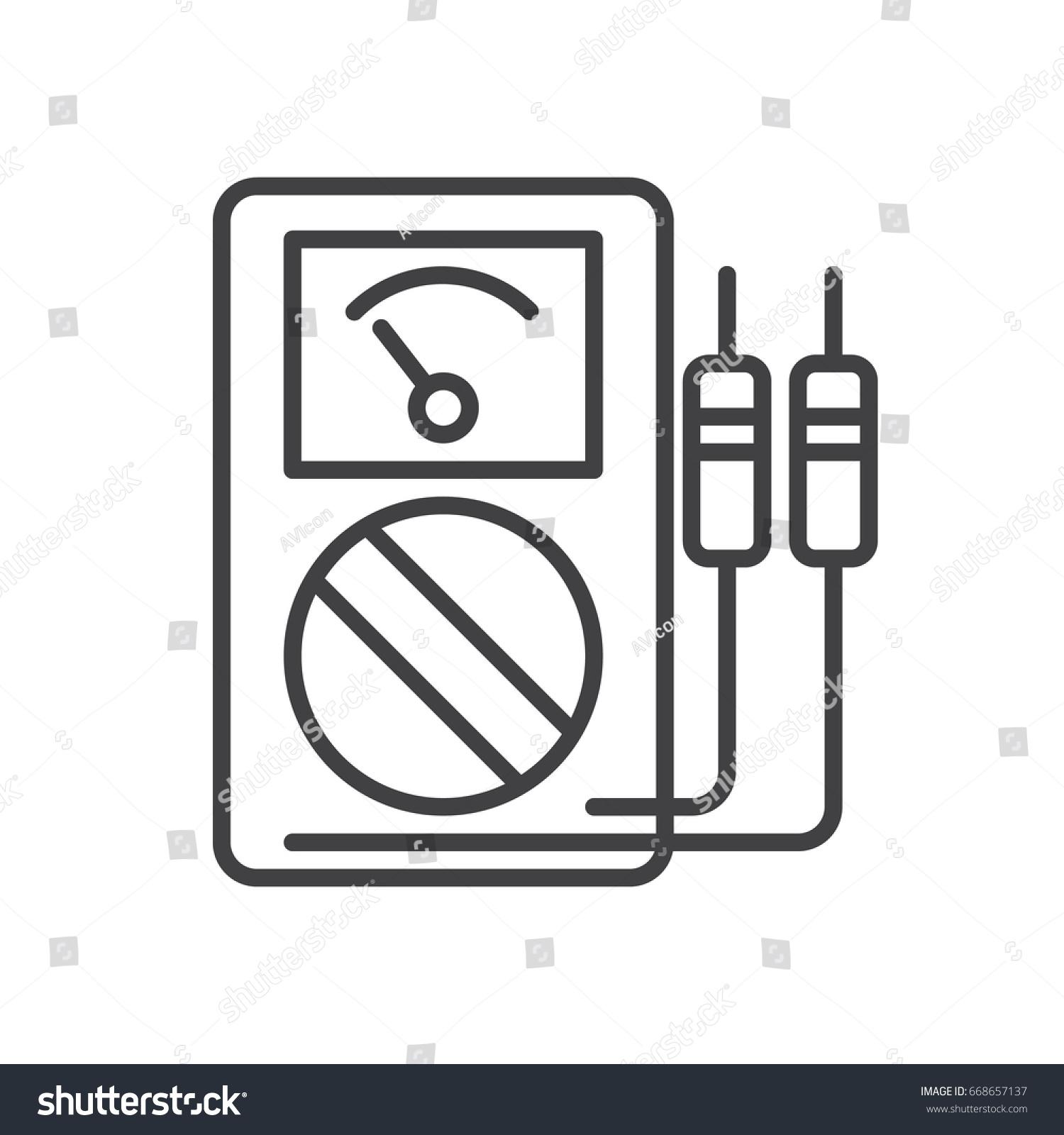 Famous Voltmeter Symbols Adornment - Electrical System Block Diagram ...