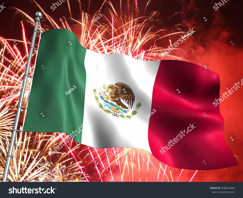 3d illustration national flag mexico massive stock illustration