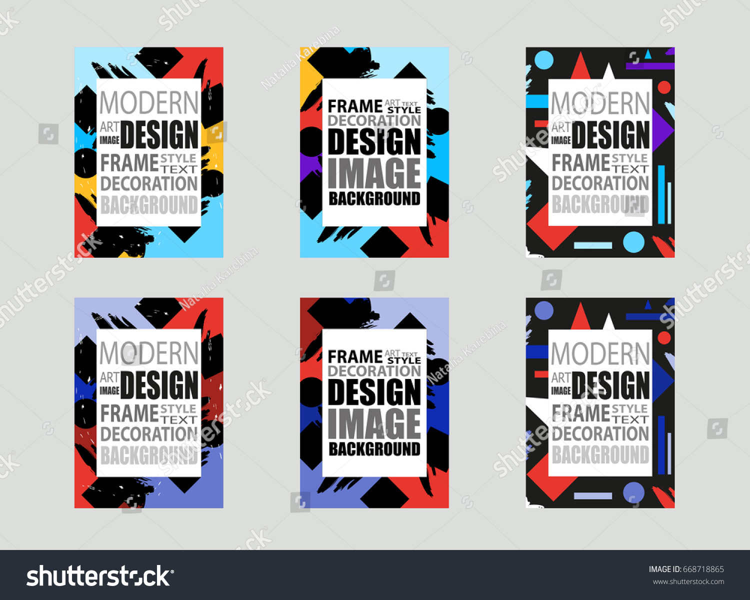 Template Brochures Flyer Business Cards Etc Stock Vector HD (Royalty ...