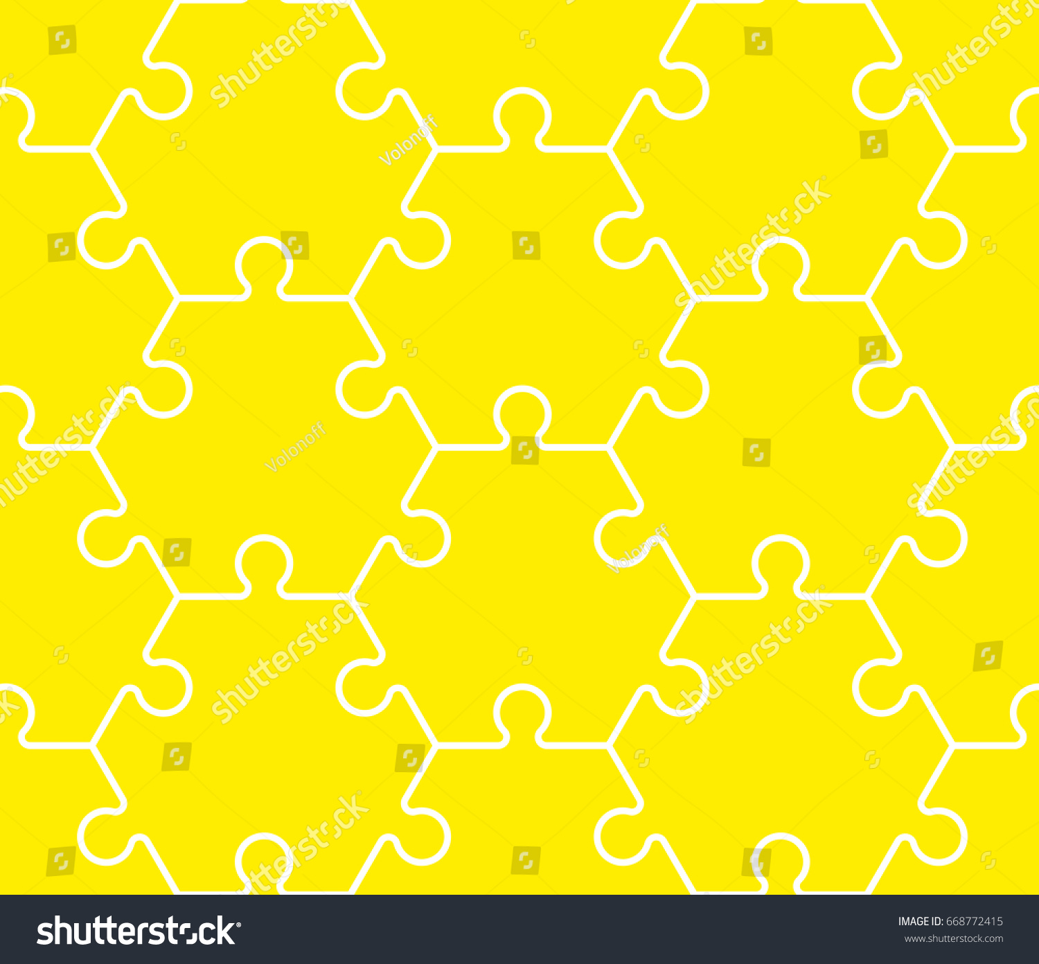 Hexagon puzzle template hexagon six piece flat puzzle round stock seamless hexahedron puzzle pattern hexagon puzzle stock vector pronofoot35fo Choice Image