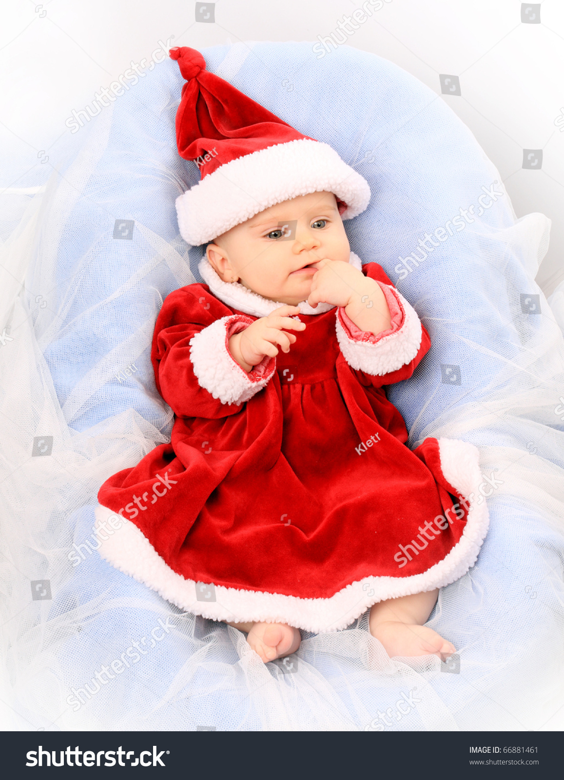 Cute baby dressed santa great calender stock photo edit now cute baby dressed as santa great for calender and christmas greetings m4hsunfo