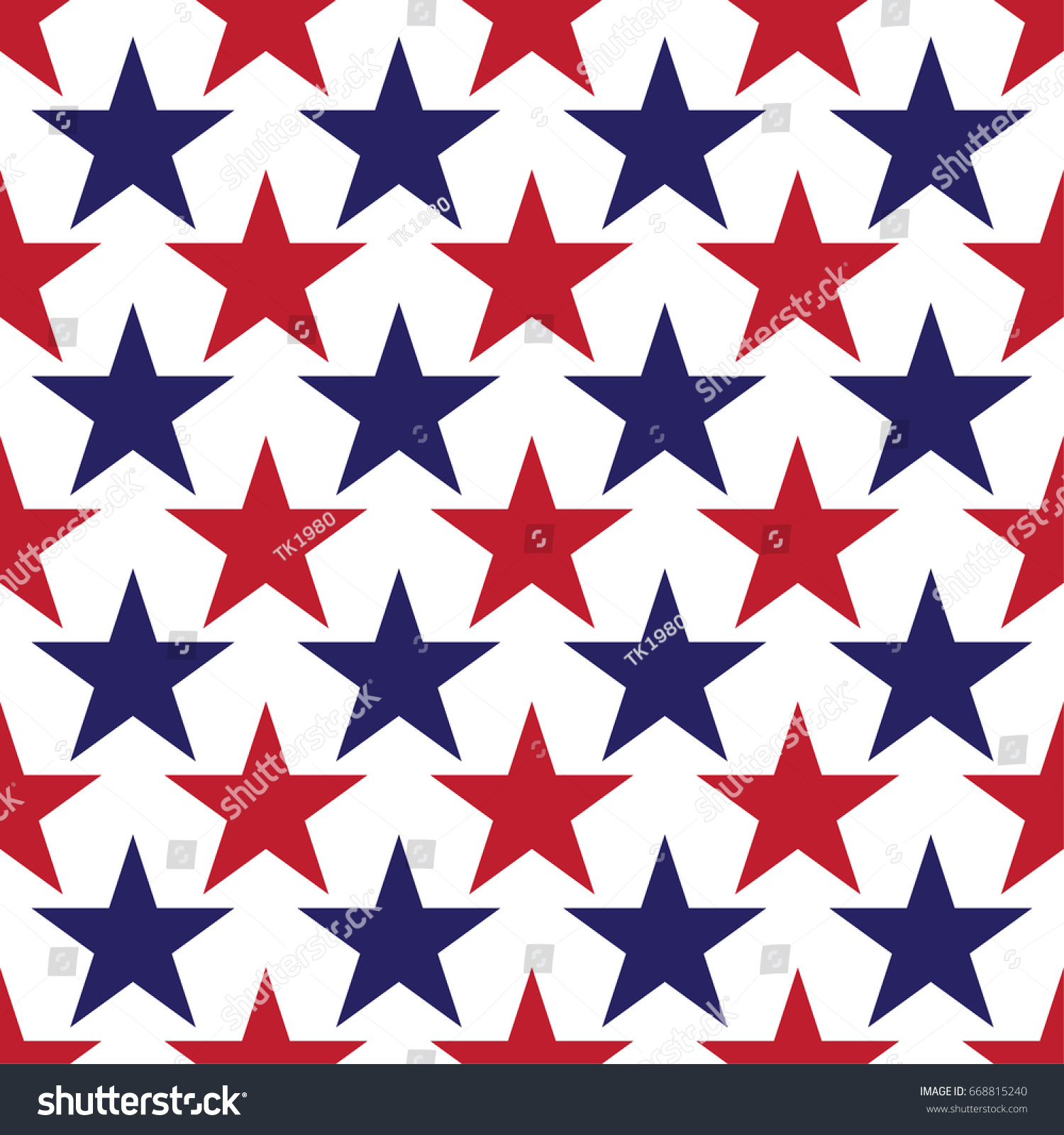 abstract red blue star pattern american stock vector royalty free