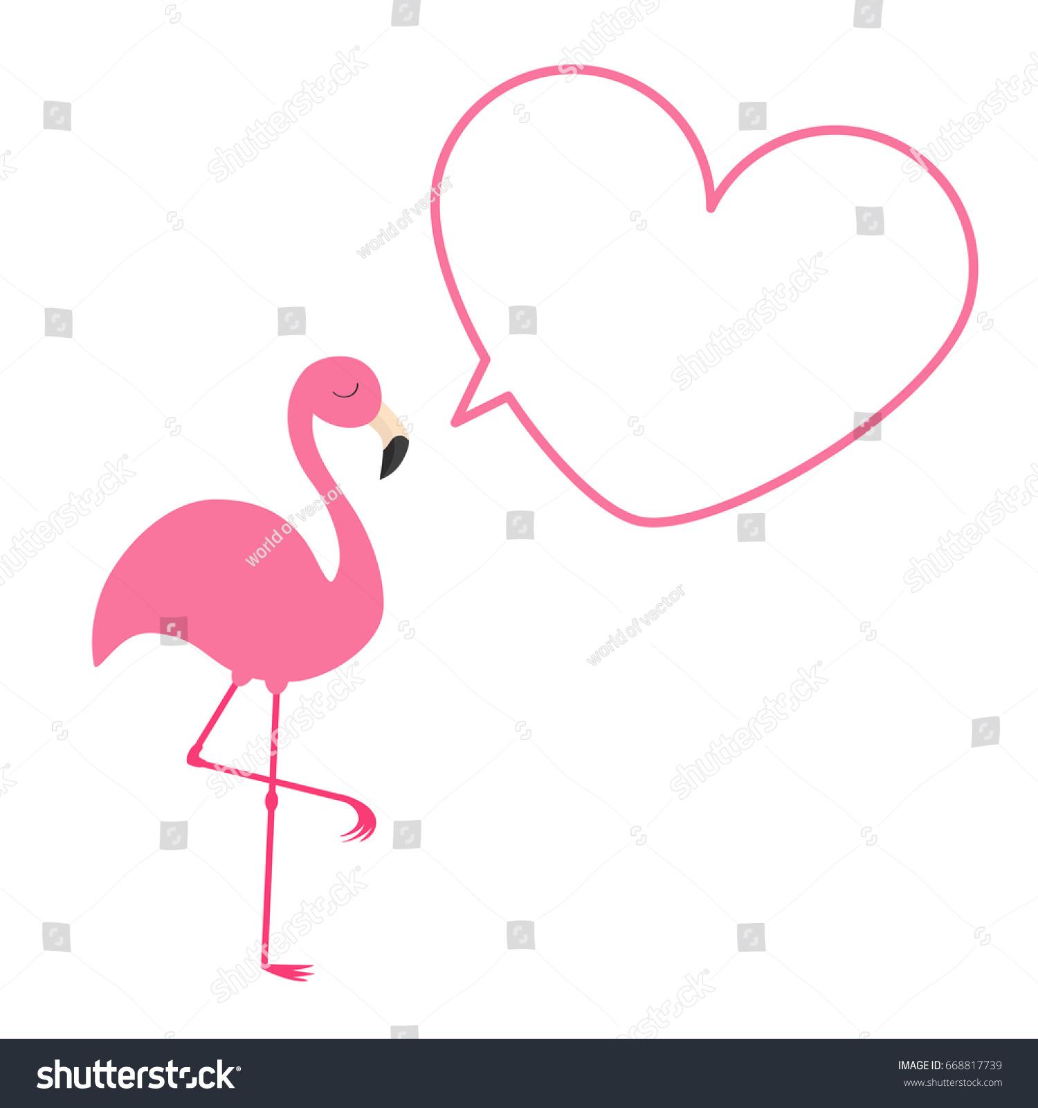 Three pink flamingos isolated on white background